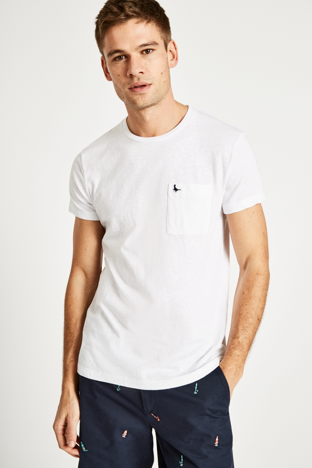 Jack Wills White AYLEFORD POCKET T-SHIRT
