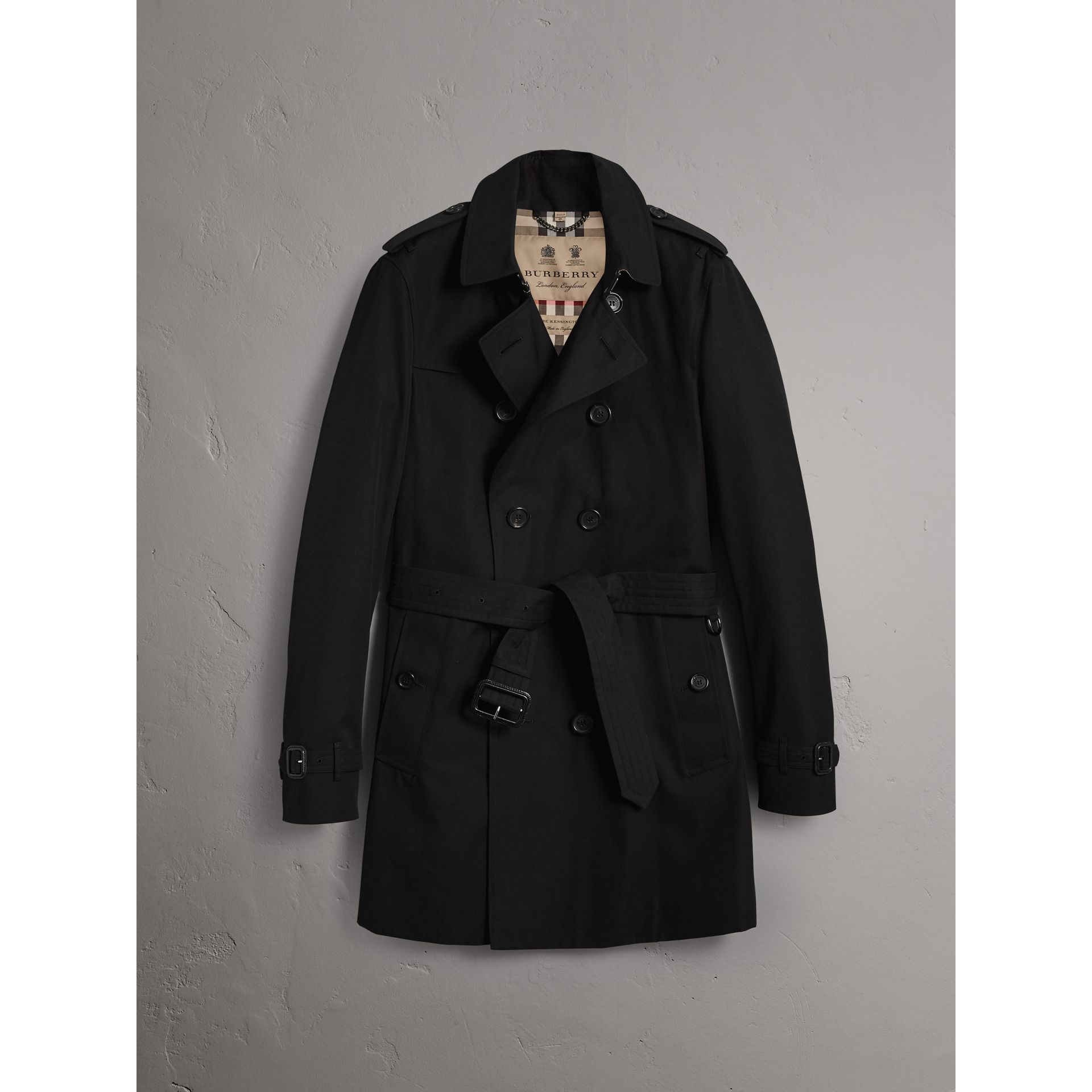 Burberry Black The Chelsea – Mid-length Trench Coat