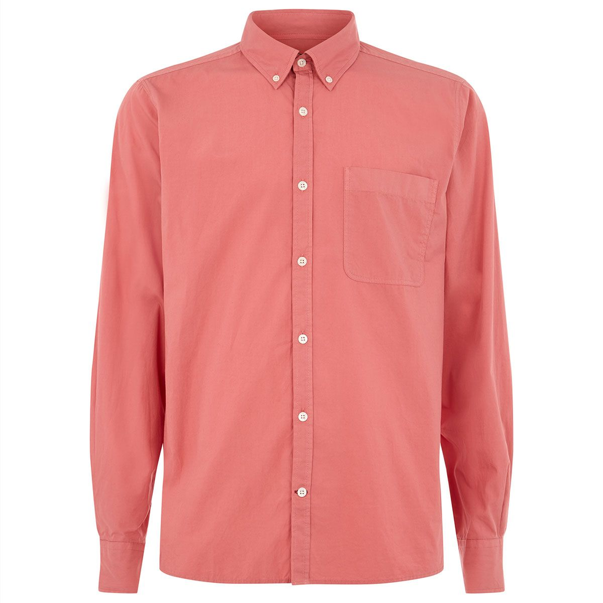Oliver Sweeney Otley Coral Pink - Casual Oxford Shirt