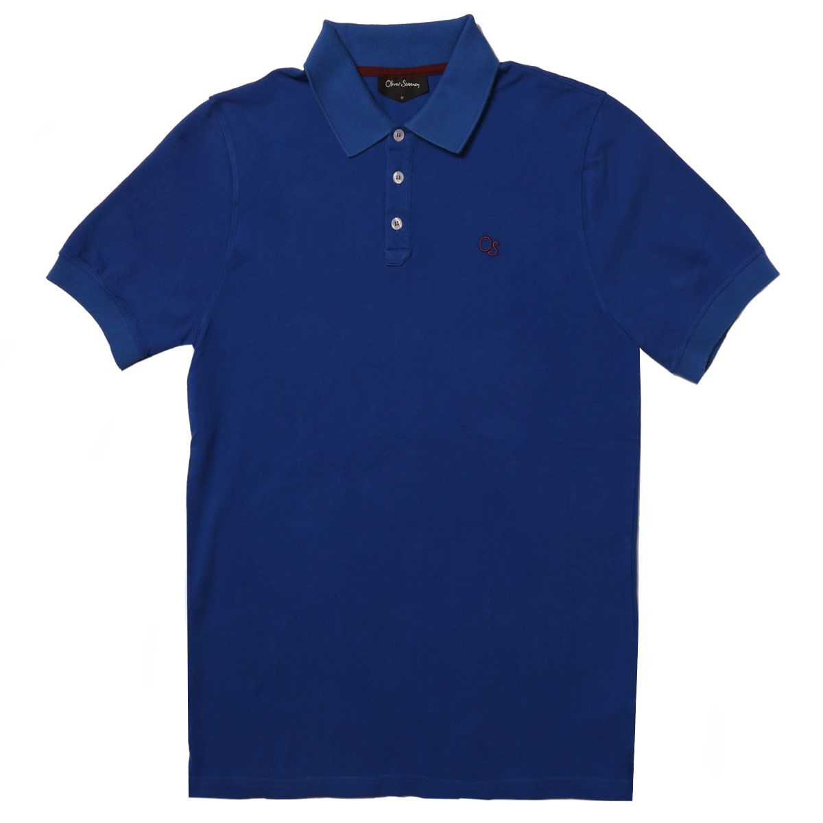 Oliver Sweeney Wollaton Cobalt - Cotton Pique Polo Shirt