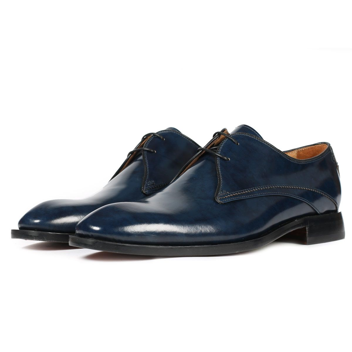 Oliver Sweeney Deliceto Navy - Antiqued Calf Leather Shoe