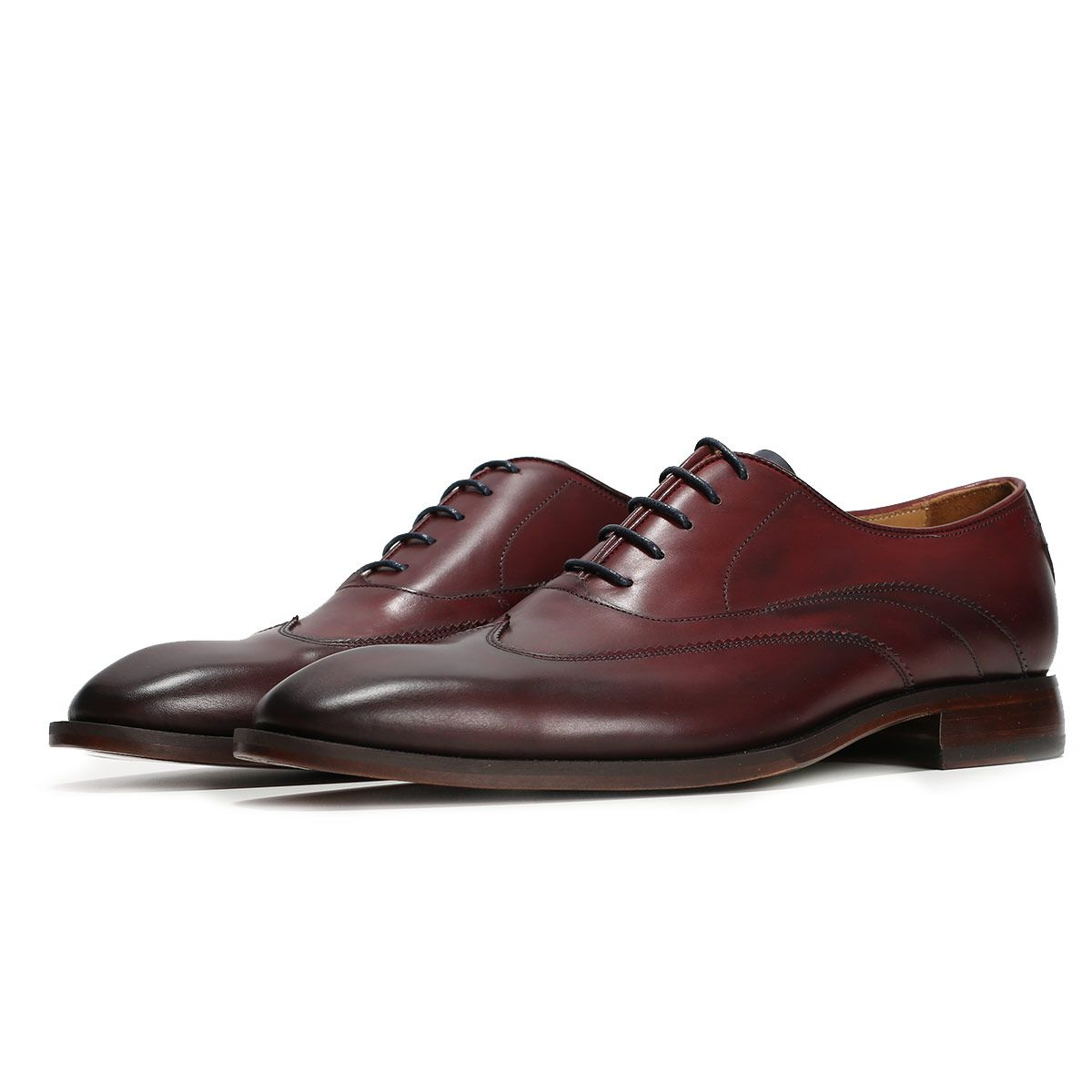 Oliver Sweeney Alassio Deep Red - Antiqued Leather Oxford Shoe