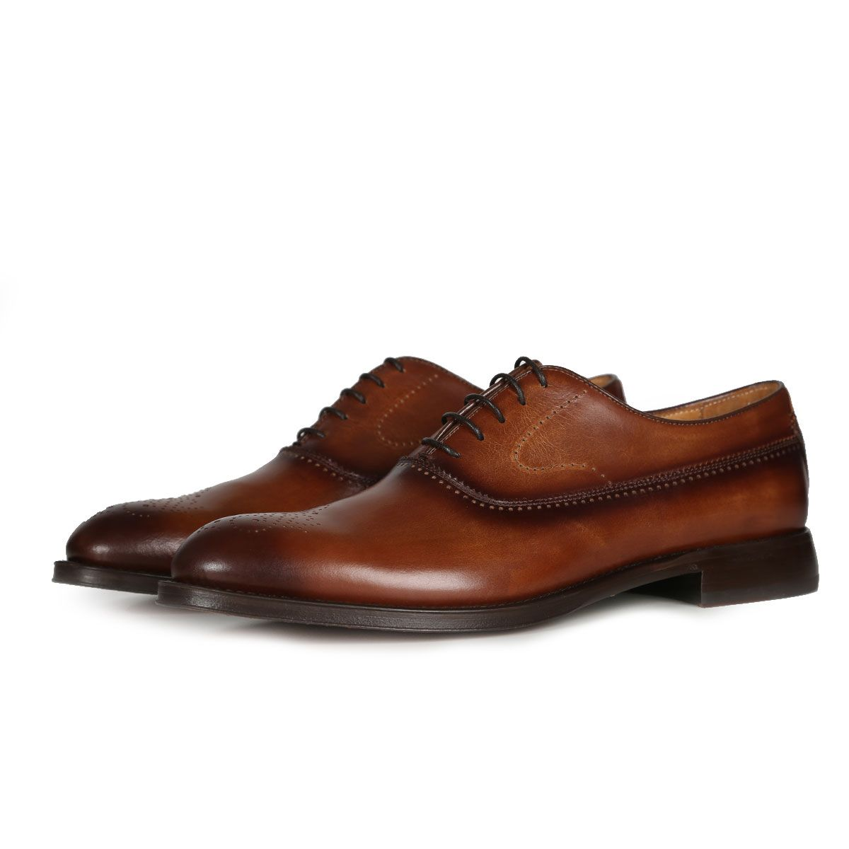 Oliver Sweeney Oristano Tan - Antiqued Leather Oxford Brogue