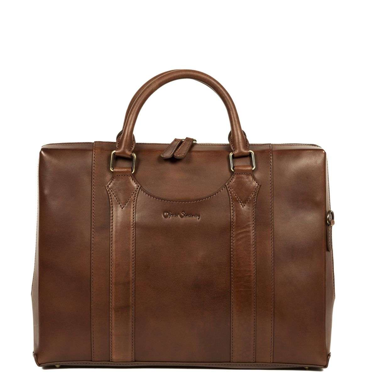 Oliver Sweeney Exeter Brown - Leather Laptop Bag