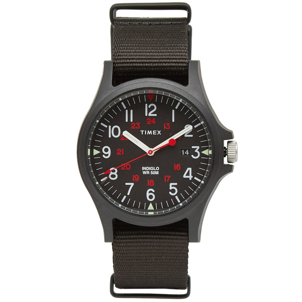 Timex Archive Black & Red Acadia Watch