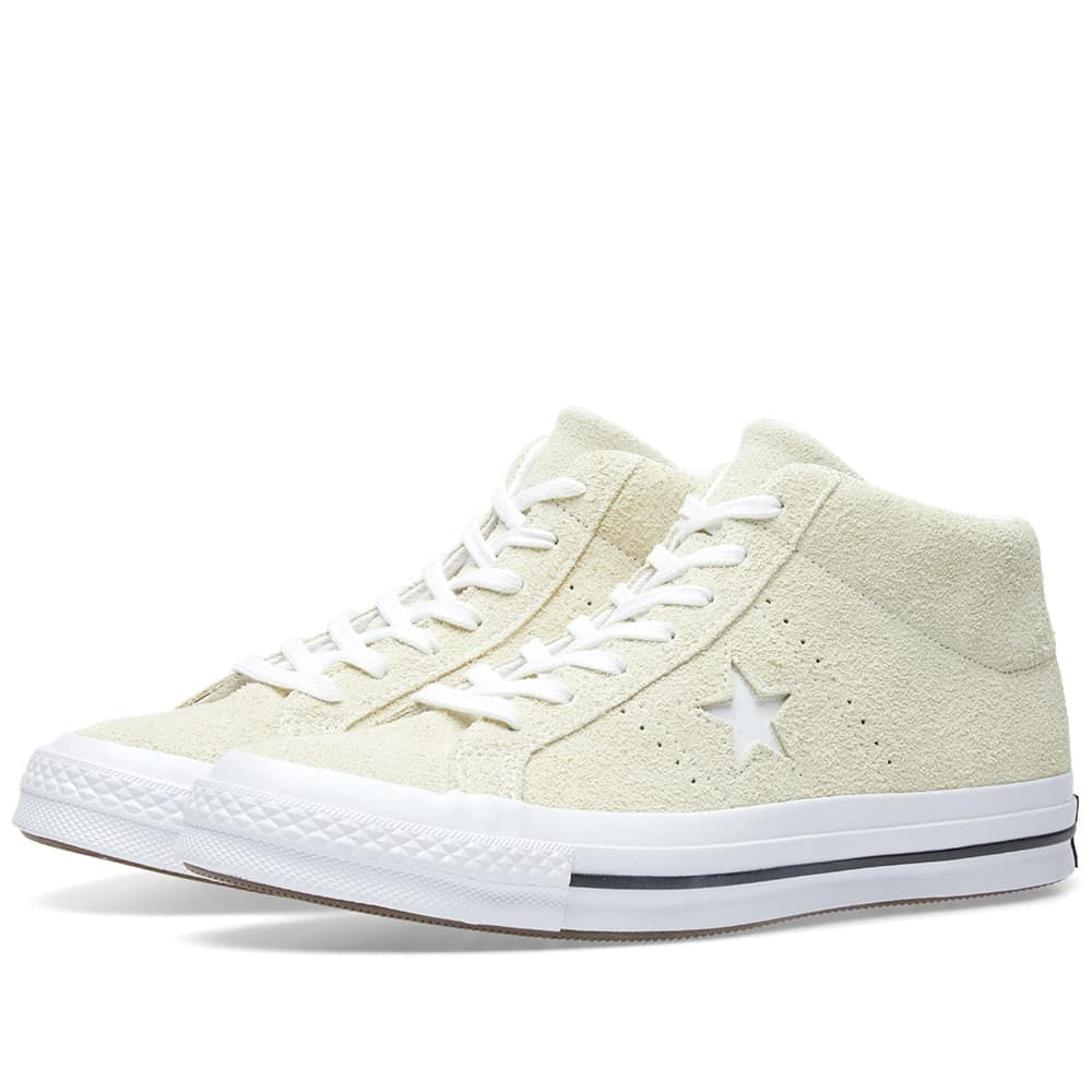 Converse Vapor Lemon, White & Black One Star Mid Pastel Pack