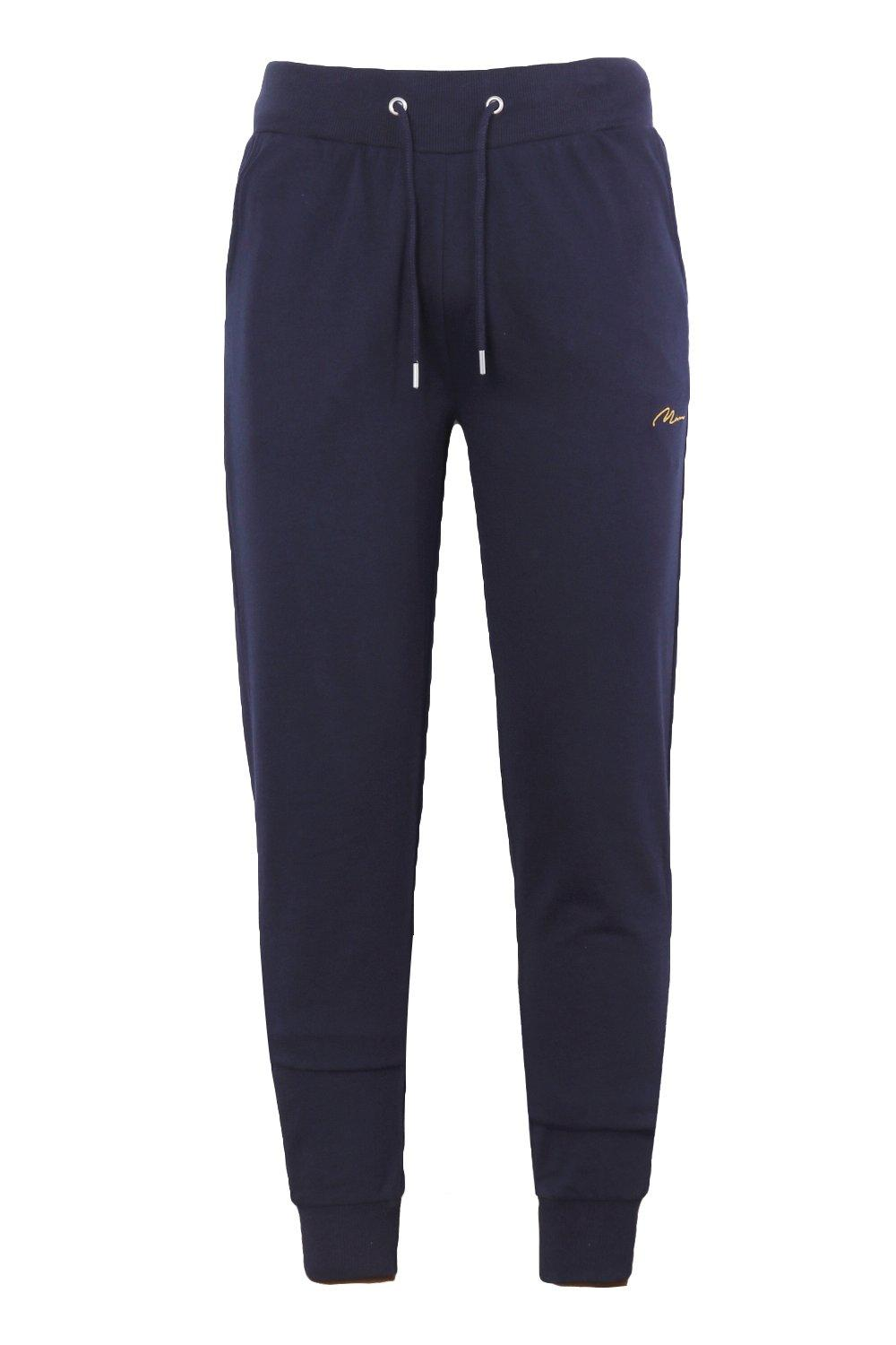 boohooMAN navy MAN Signature Skinny Fit Jogger