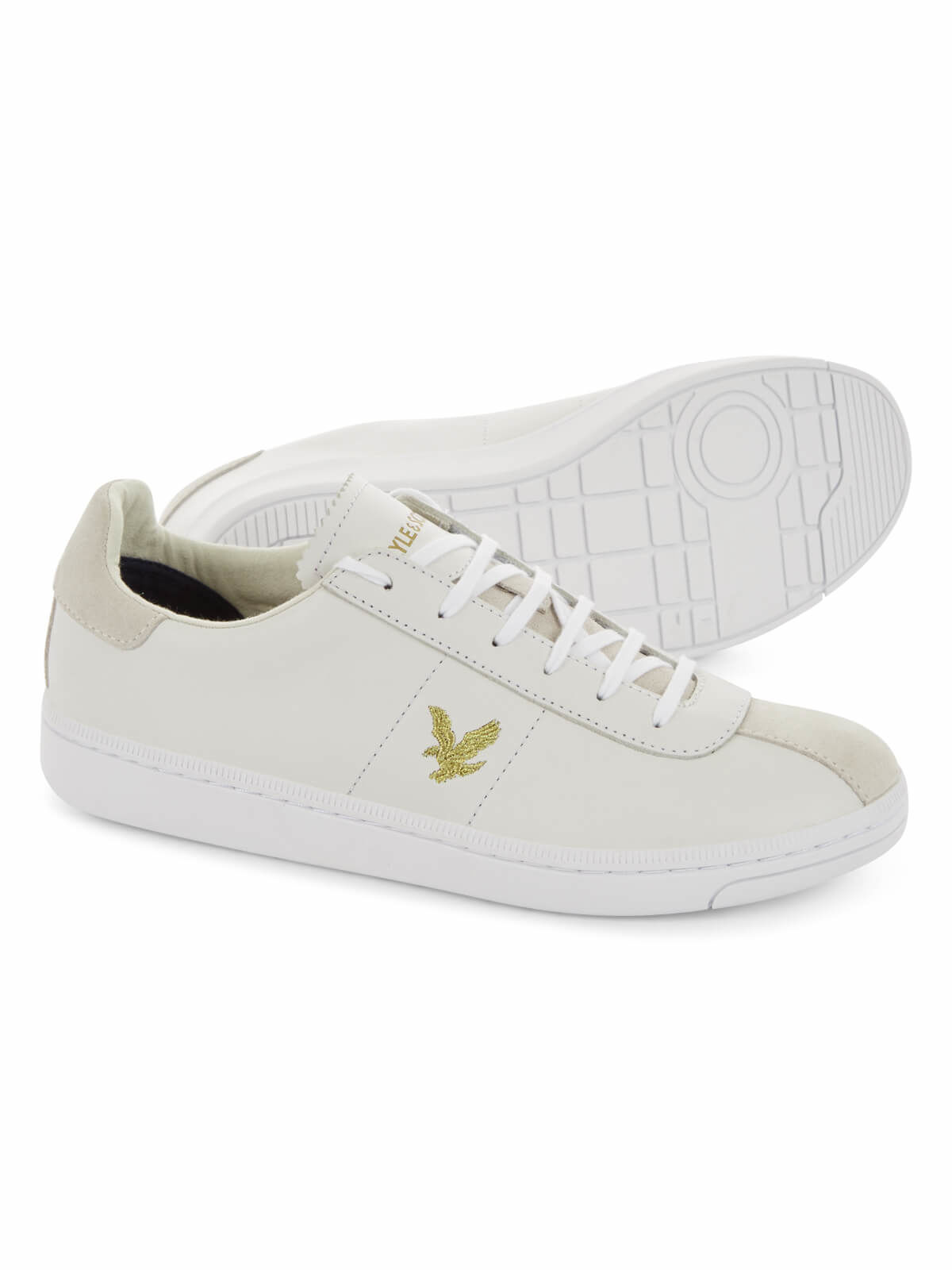 Lyle and Scott White Cooper Trainers