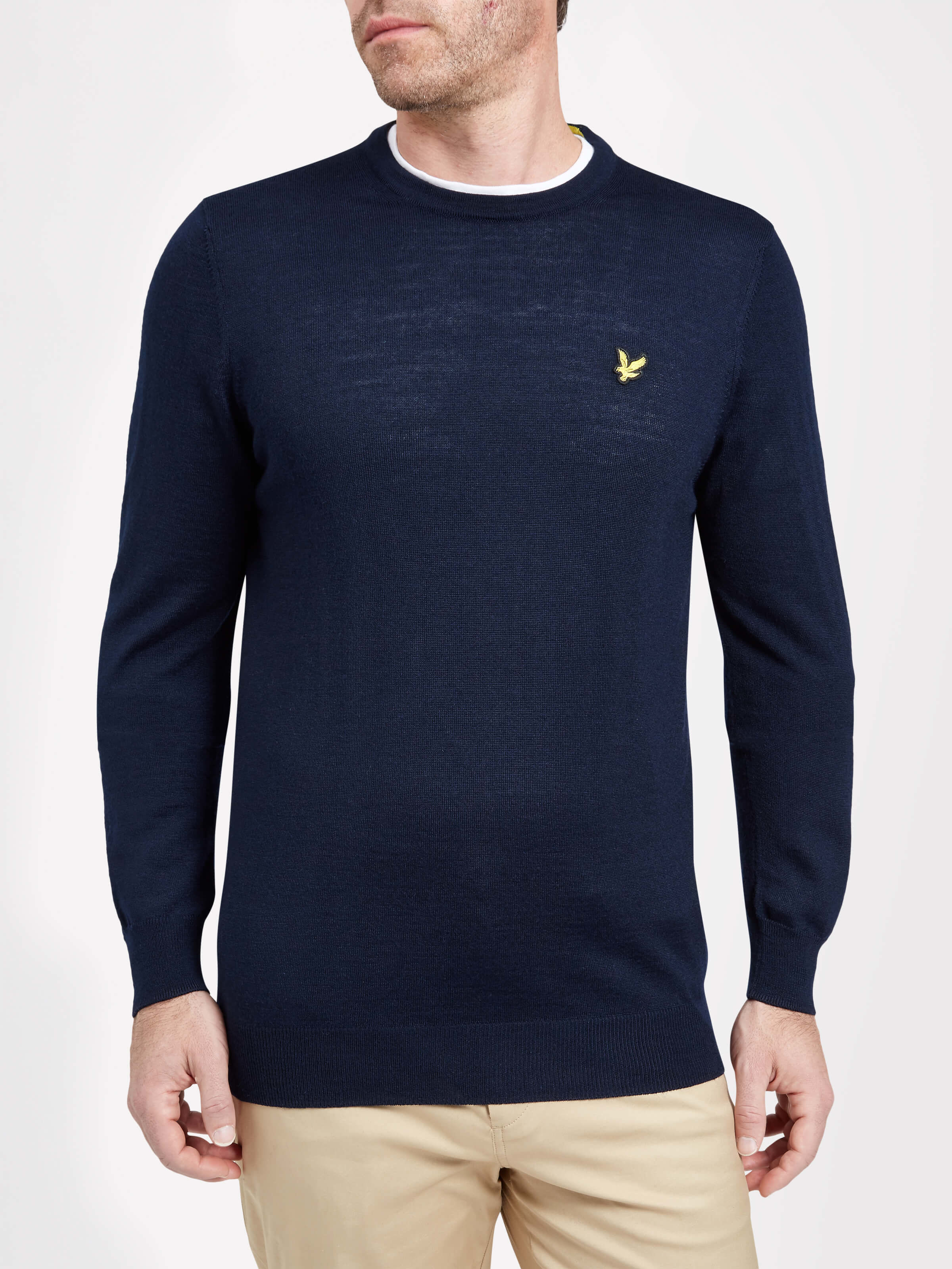Lyle and Scott Navy Tain Crew Neck Pullover