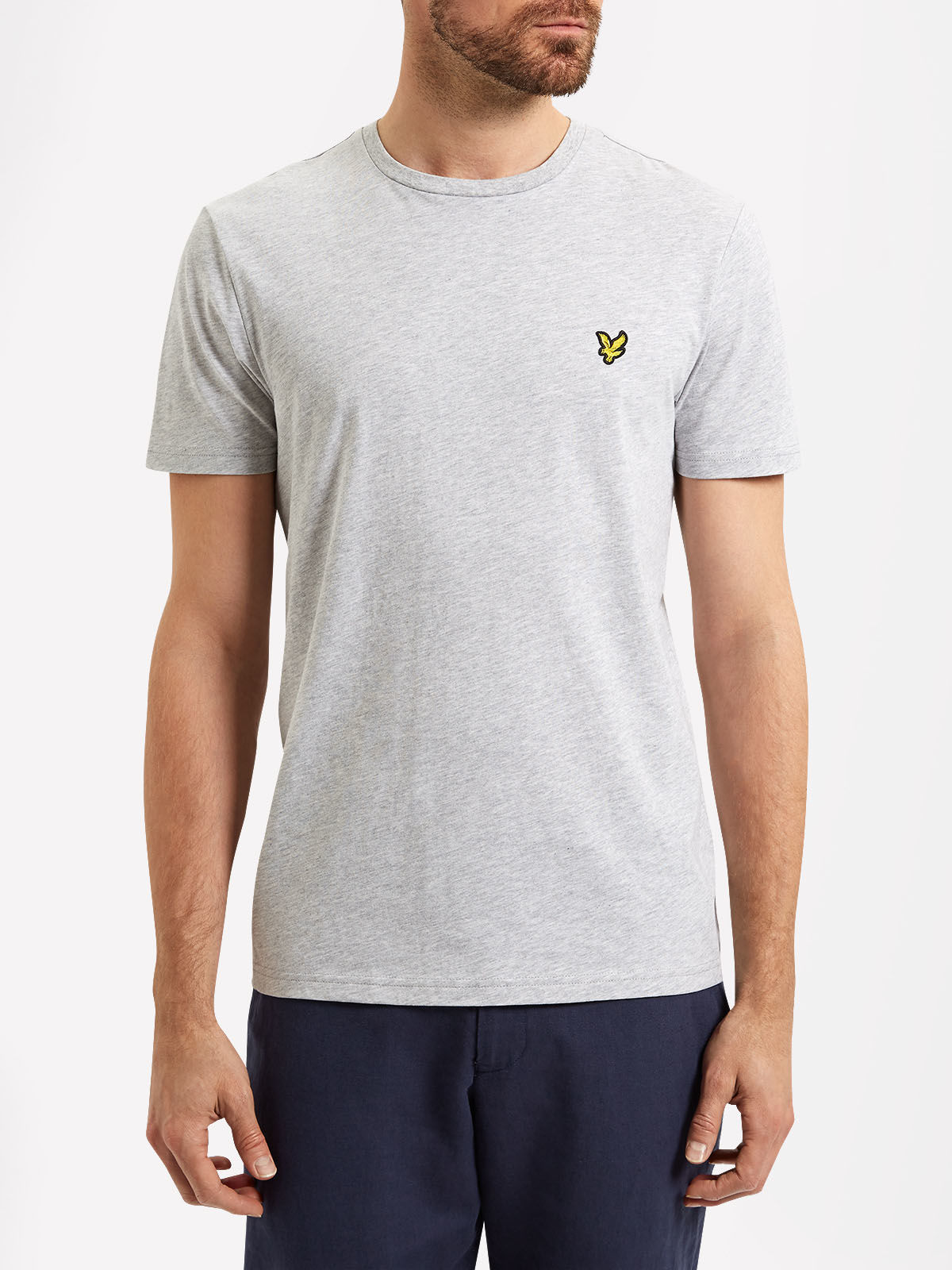 Lyle and Scott Light Grey Marl Crew Neck T-Shirt