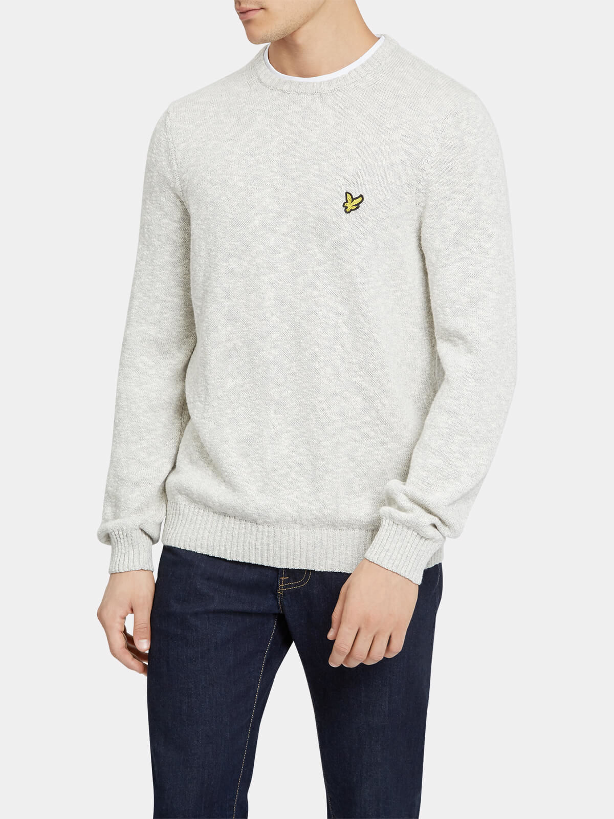 Lyle and Scott Mid Grey Marl Mottled Jumper