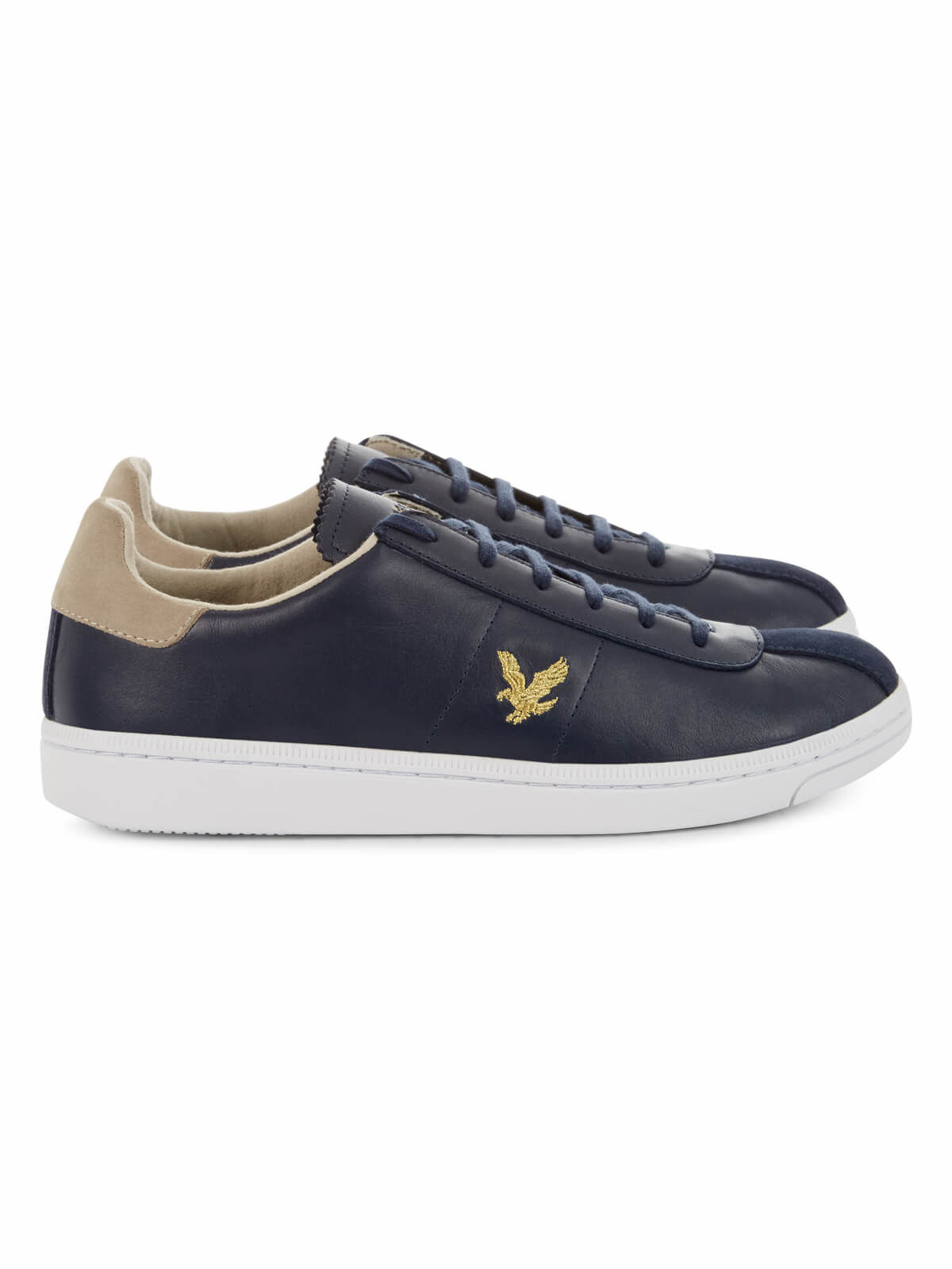 Lyle and Scott Navy Cooper Trainers