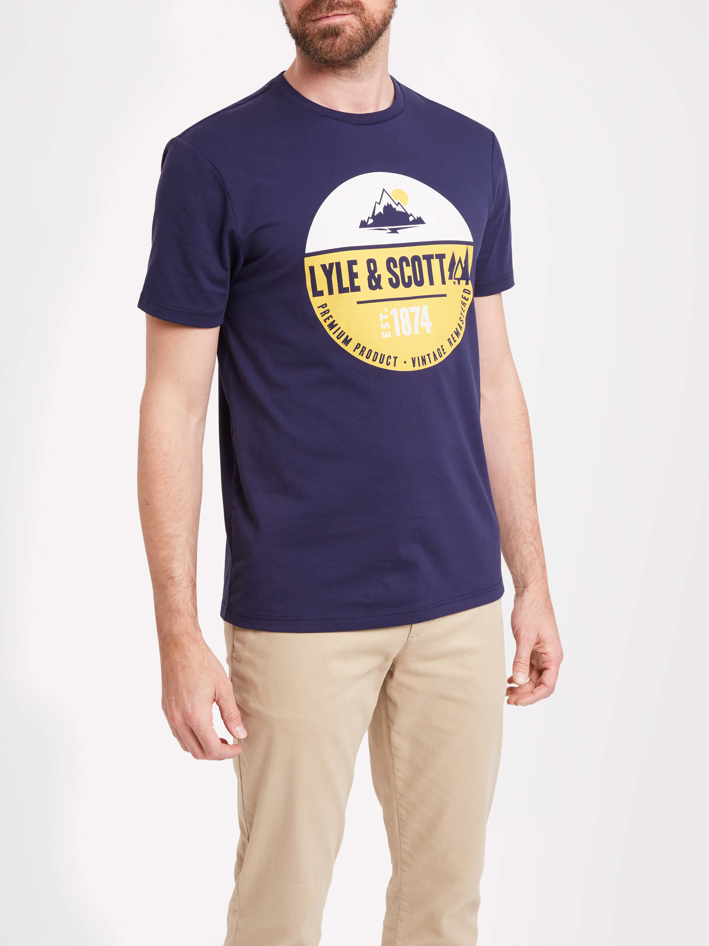 Lyle and Scott Navy Graphic T-Shirt