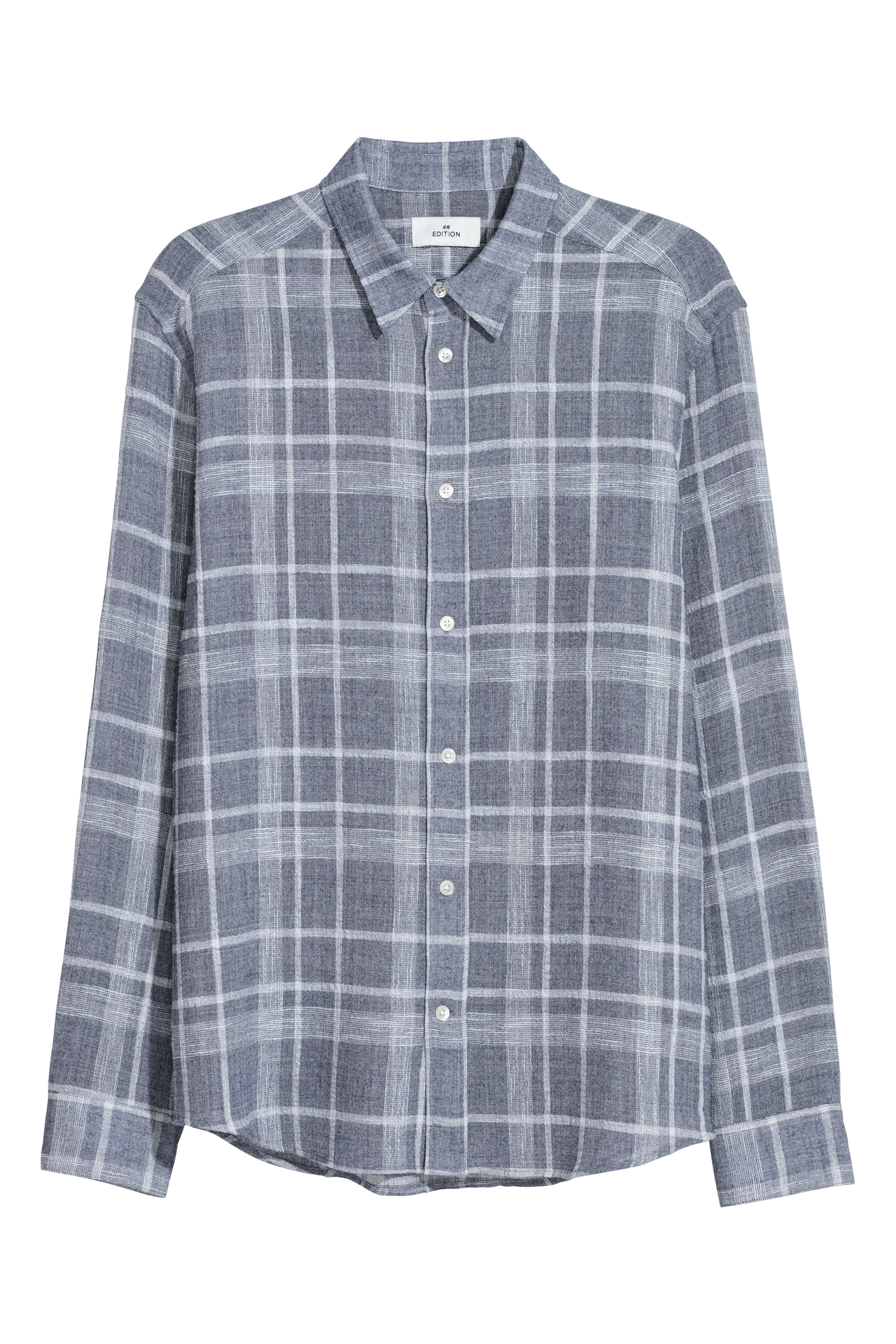 H&M Edition Light blue/White checked Cotton blend shirt