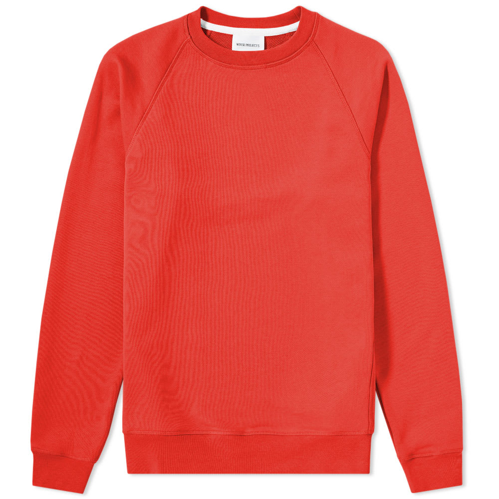 Norse Projects Coral Red Ketal Summer Classic Crew Sweat