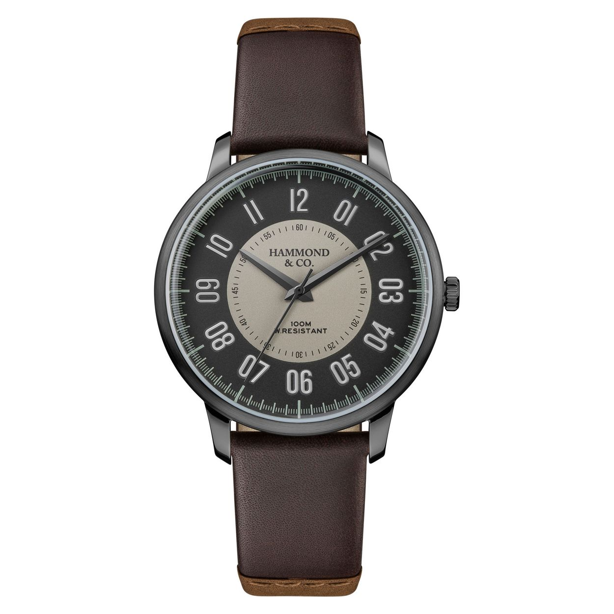 Hammond & Co. by Patrick Grant Men's brown 'Arabic' leather strap watch 610102099
