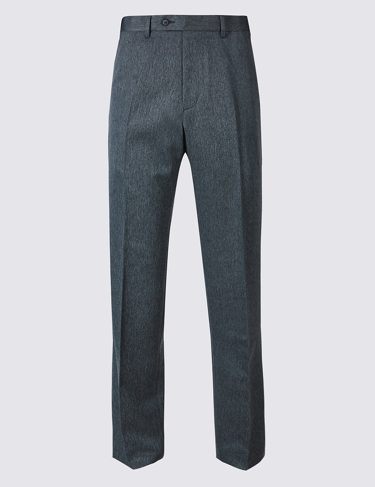 Marks & Spencer Blue Regular Fit Flat Front Trousers