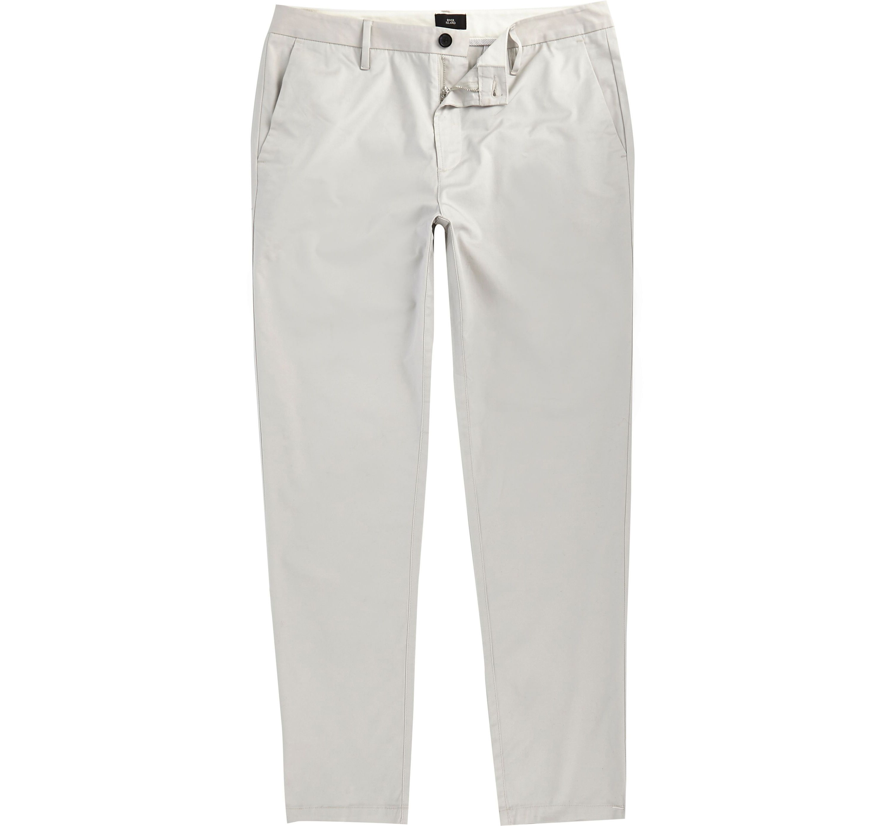 River Island Mens Grey slim fit chino trousers
