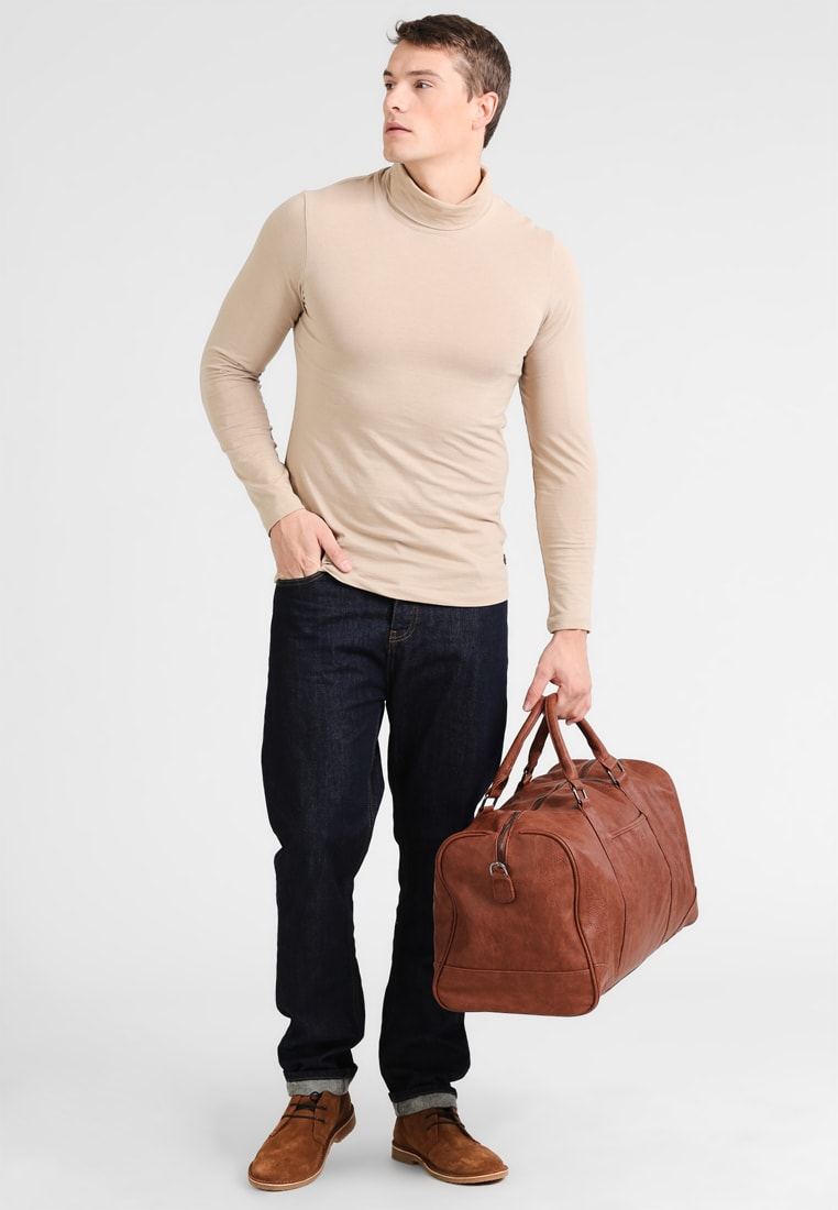 YOUR TURN cognac Weekend bag