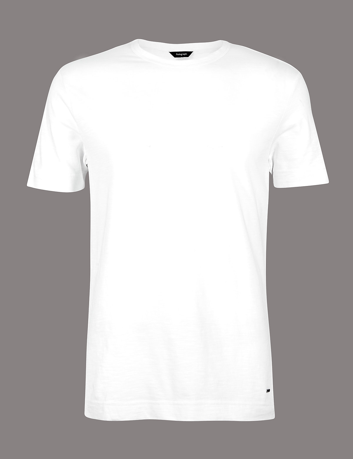Marks & Spencer White Supima® Cotton Crew Neck T-Shirt