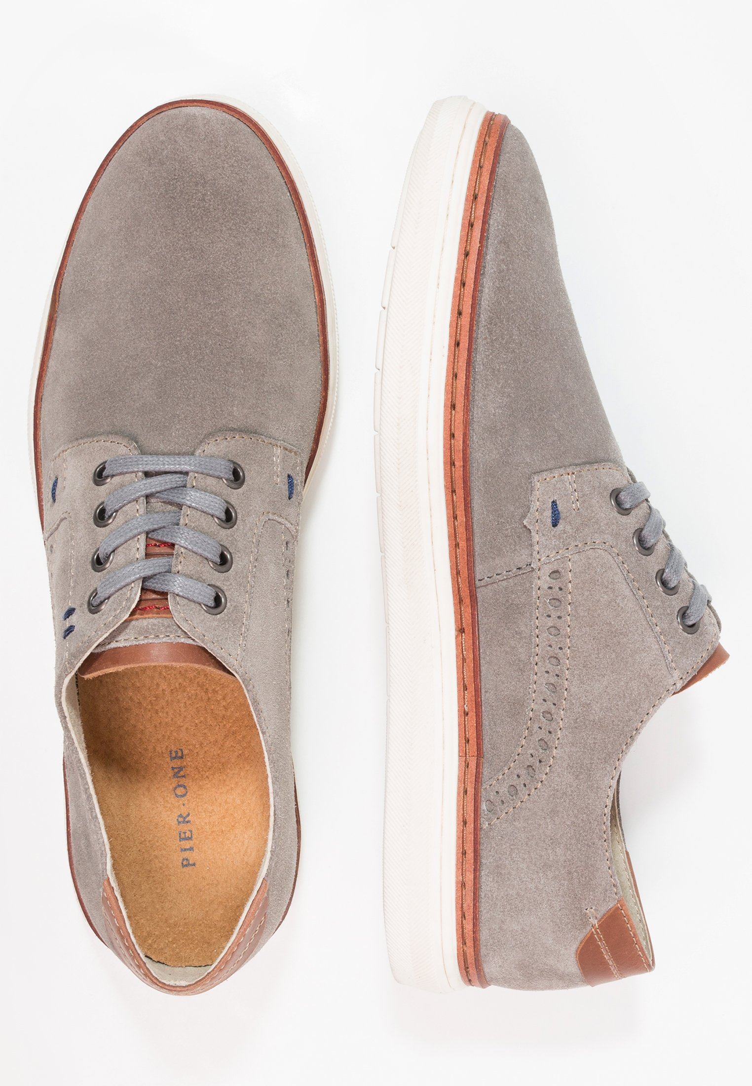 Pier One grey Casual lace-ups