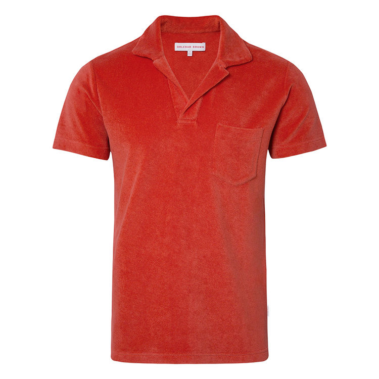 Orlebar Brown TERRY TOWELLING Berry Towelling Resort Polo