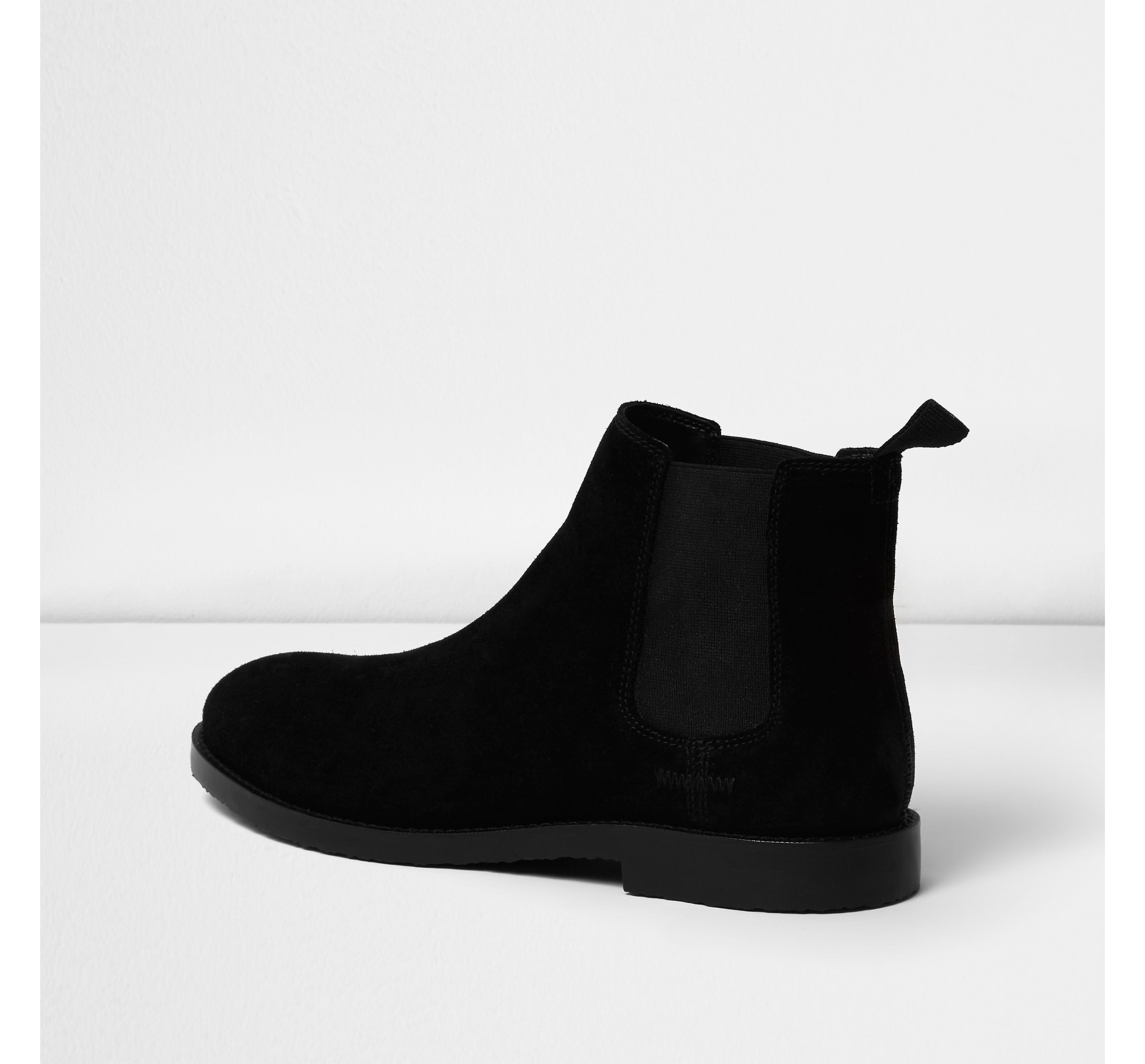 river island black suede chelsea boots