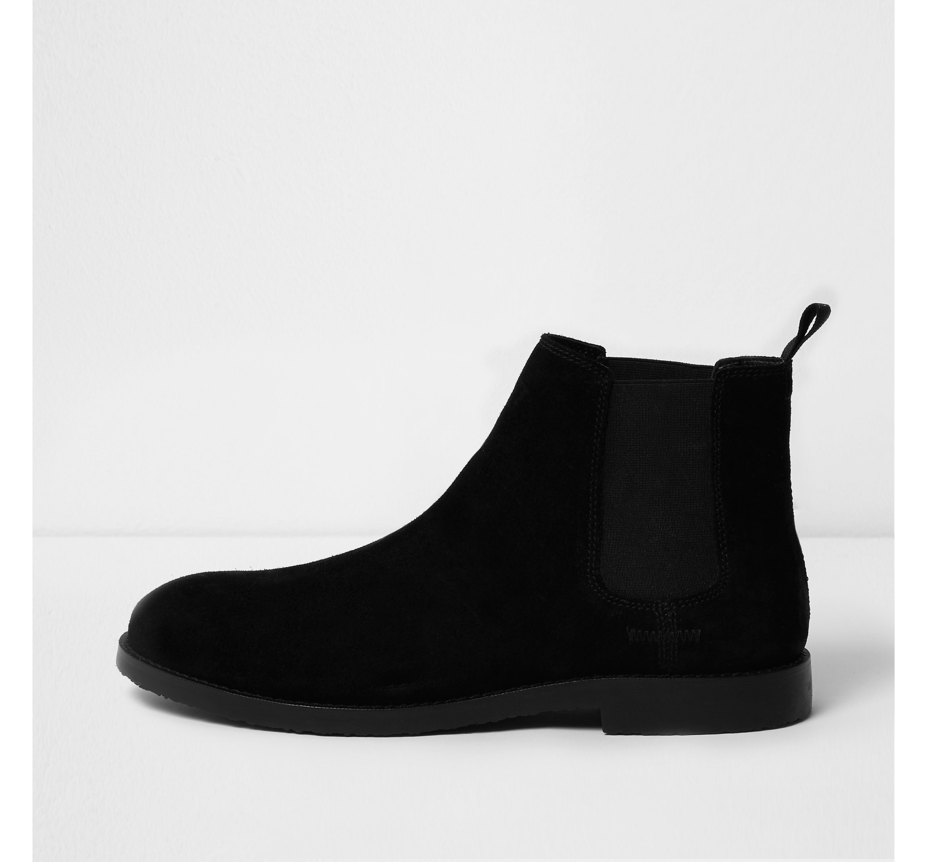 6ae16c22260 Mens Black suede chelsea boots by River Island