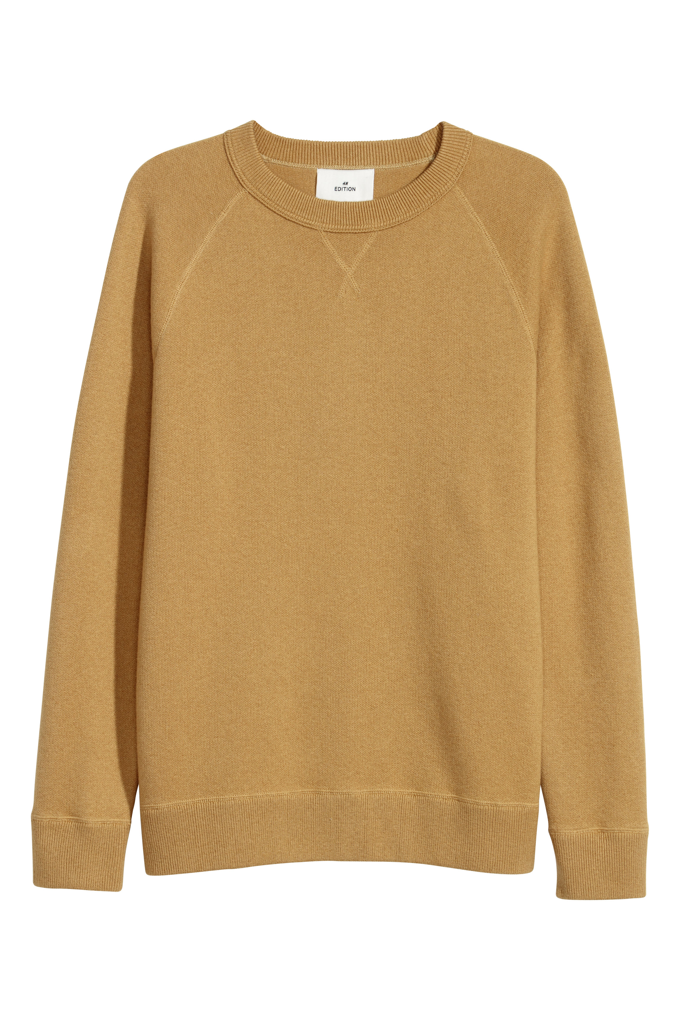 H&M Edition Dark yellow Wool-blend sweatshirt