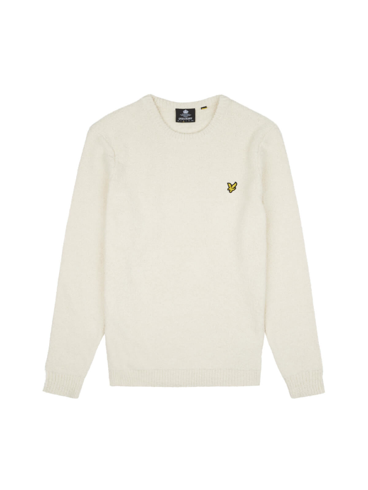Lyle and Scott Seashell White Towelling Jumper