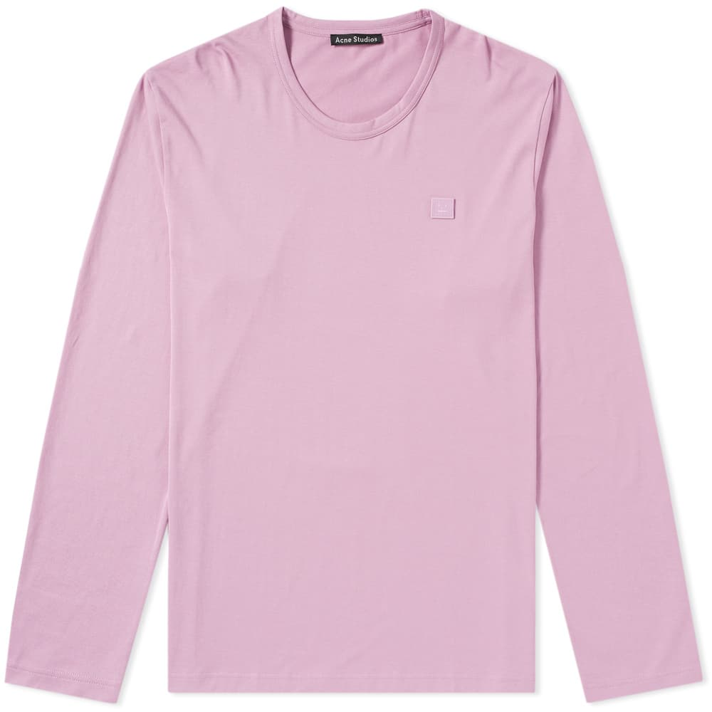 Acne Lilac Purple Nash Long Sleeve Face Tee