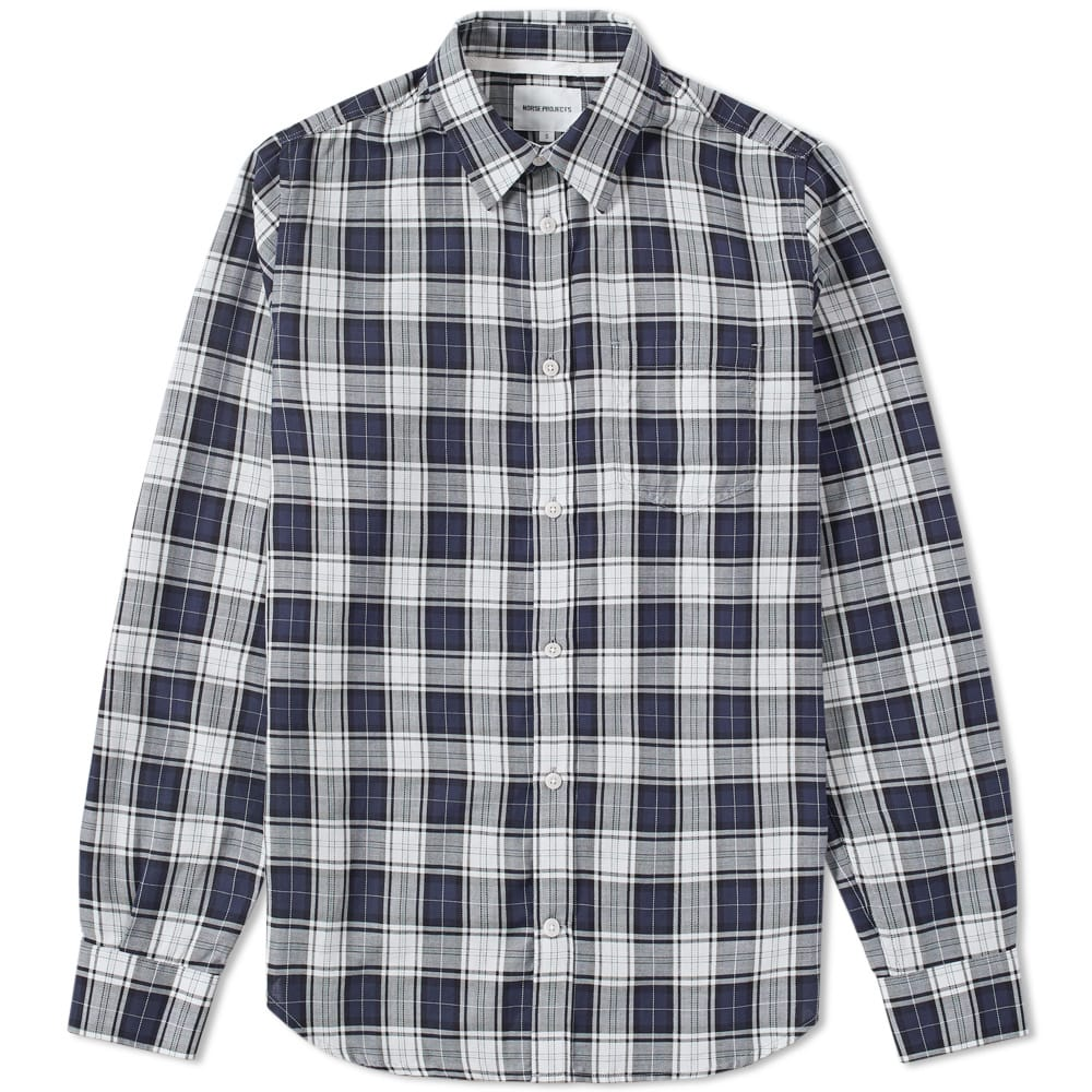 Norse Projects Kit White Osvald Soft Check Shirt