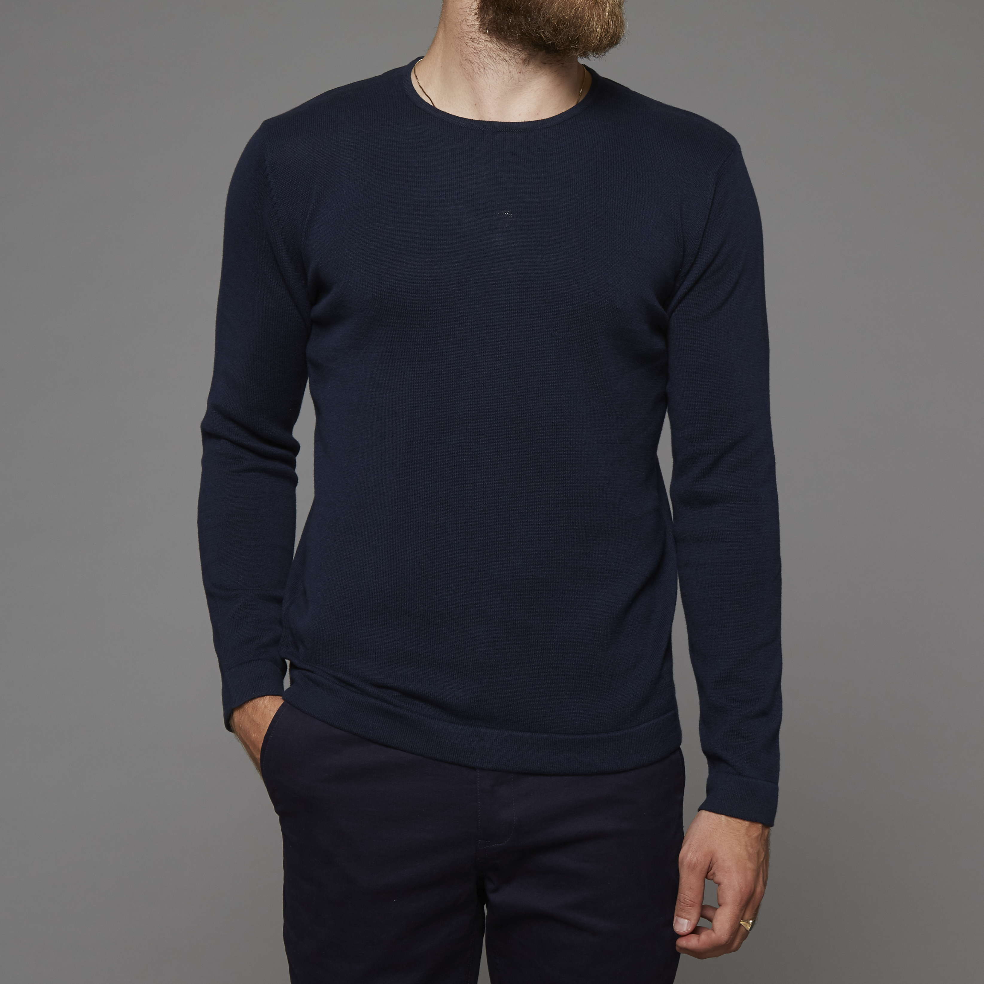 Suit Navy Chester Knit