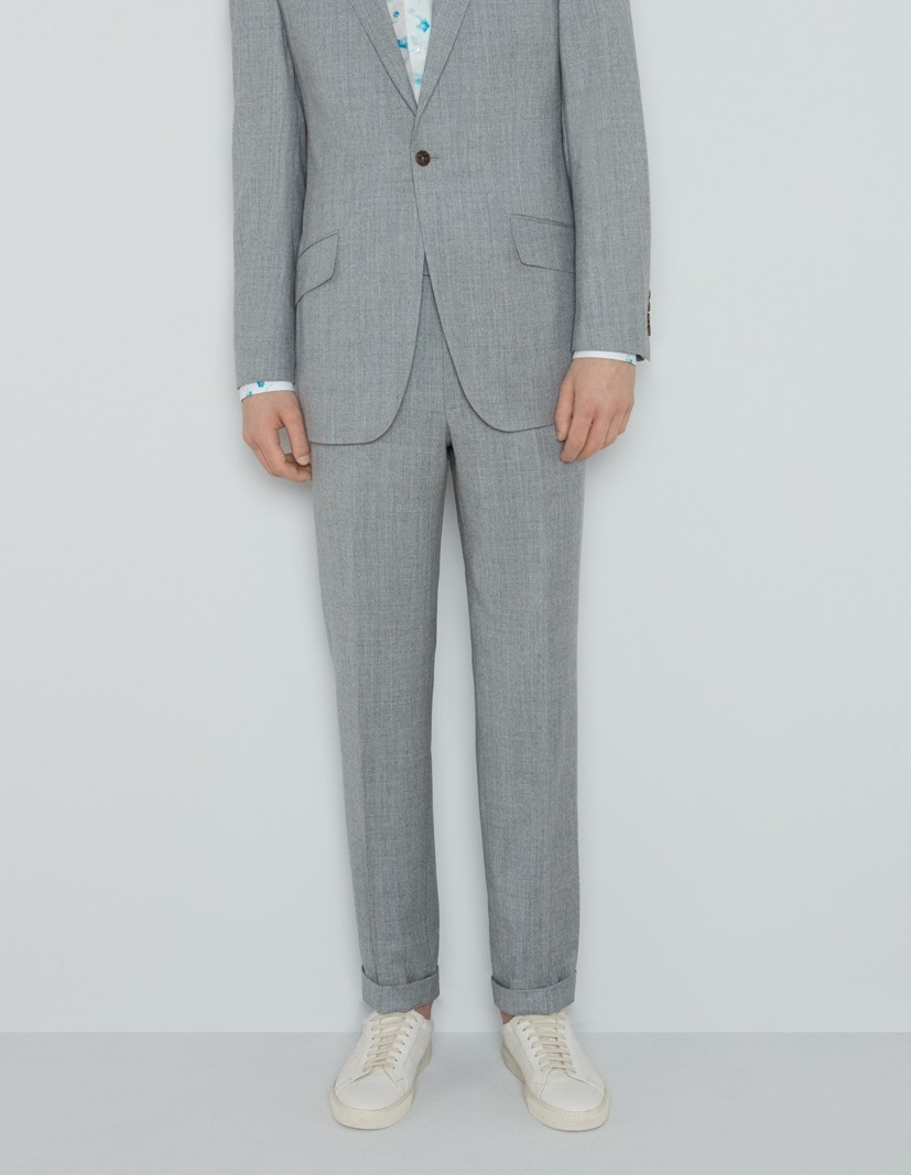 Richard James Hyde Suit - Dove Grey Featherweight Flannel