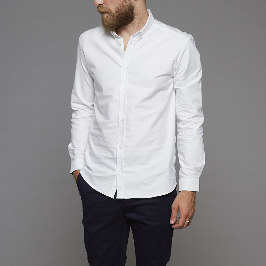 Suit White Oxford Long Sleeve Shirt