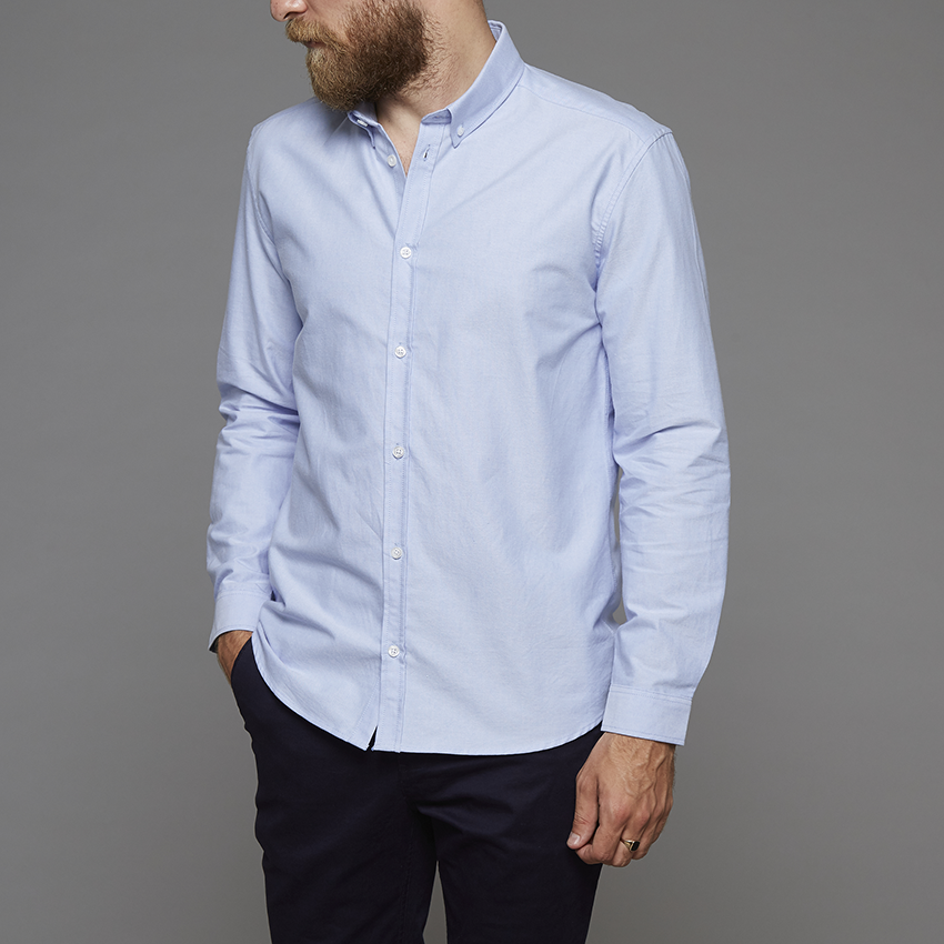 Suit Blue Oxford Long Sleeve Shirt