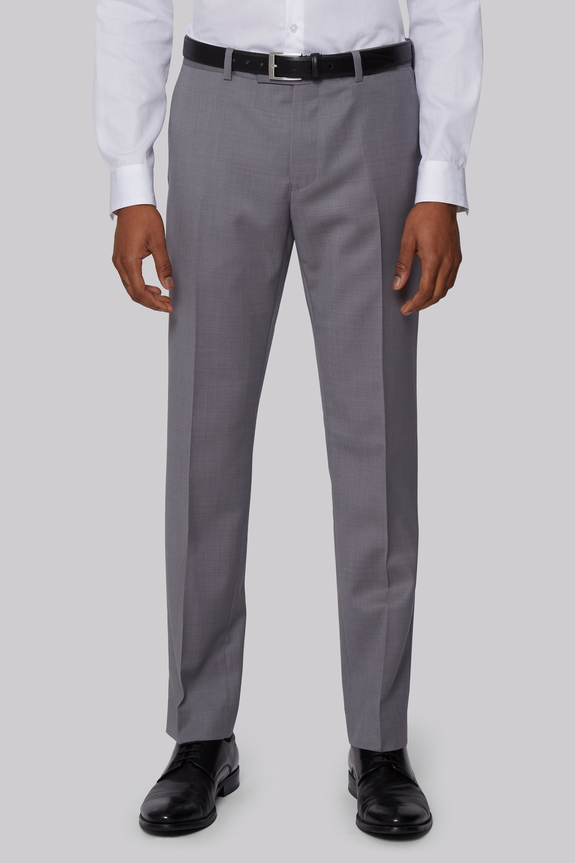 Moss Bros DKNY Slim Fit Neutral Pindot Trousers