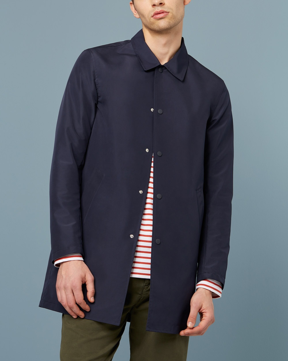Wax London Hinkley Rain Mac navy