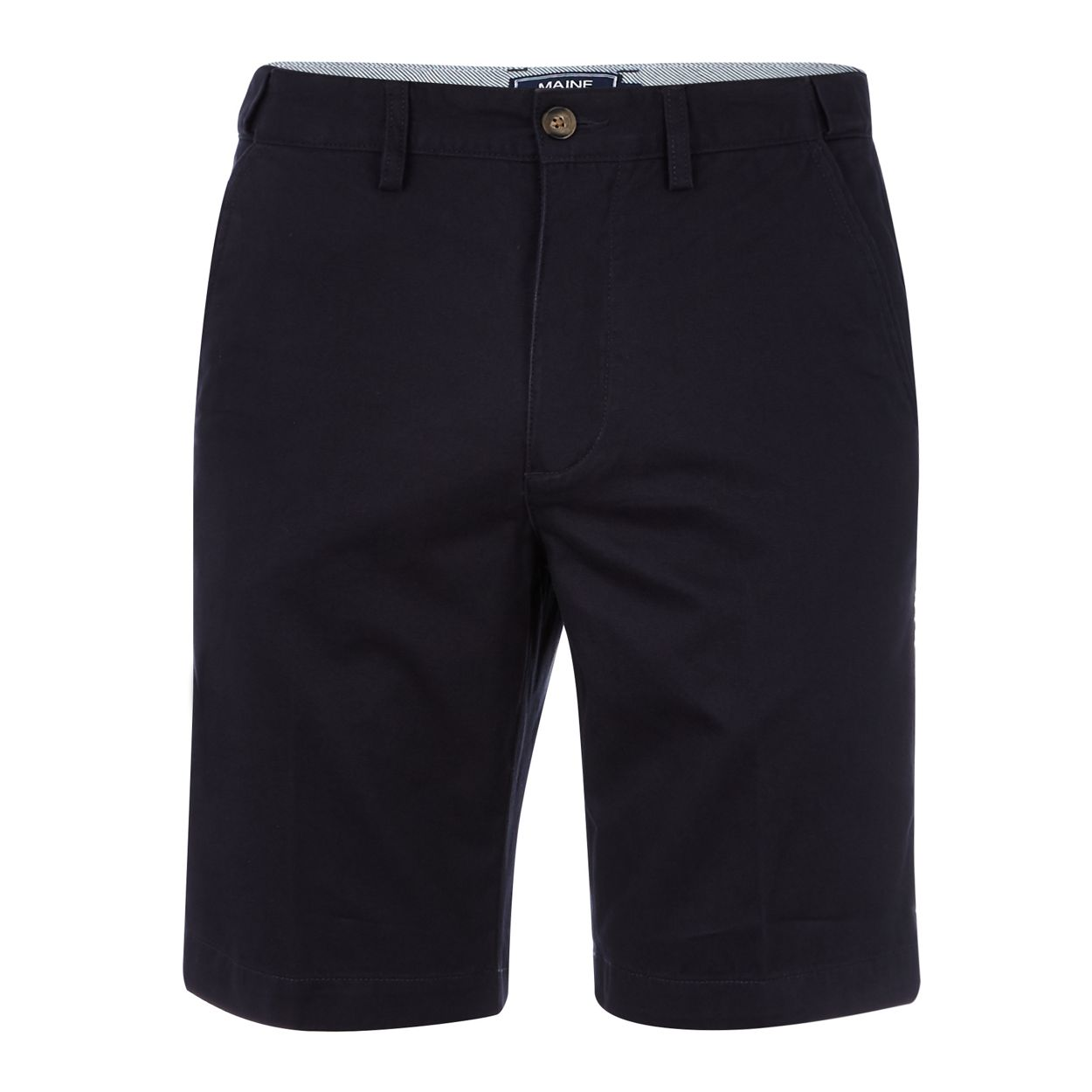 Maine New England Big and tall dark navy chino shorts