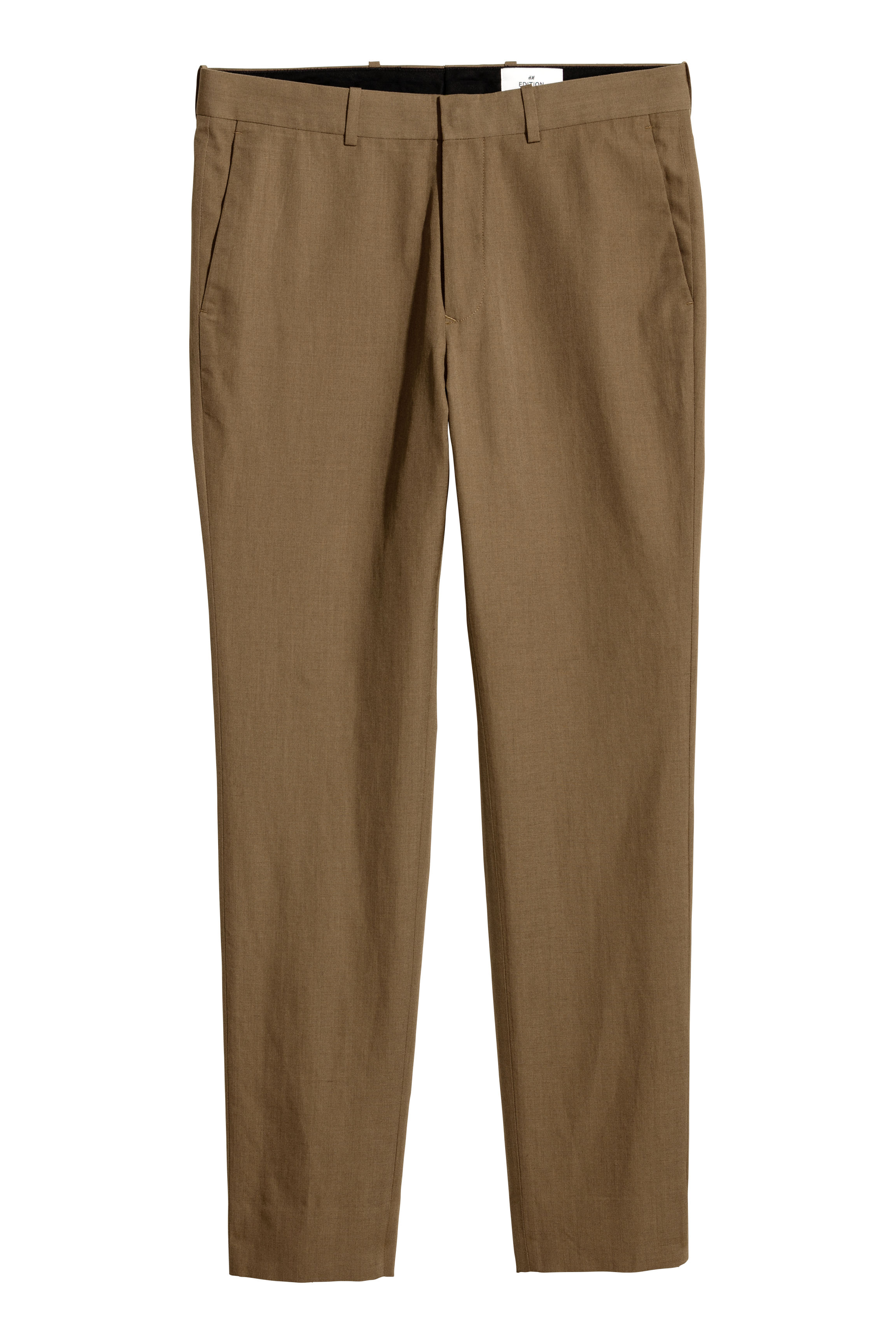 H&M Edition Light brown Wool-blend trousers
