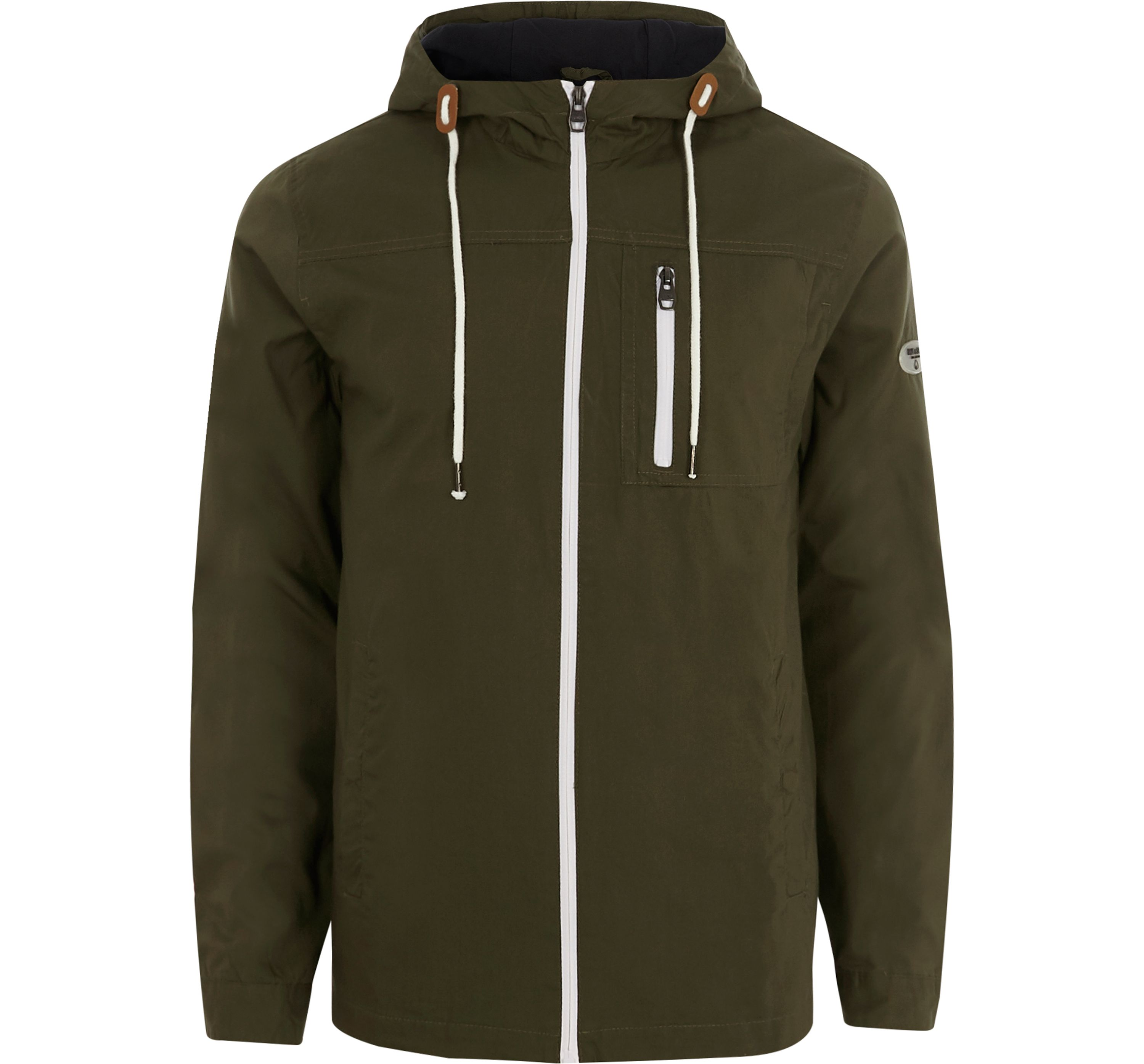 River Island Mens Only and Sons Khaki green hooded jacket