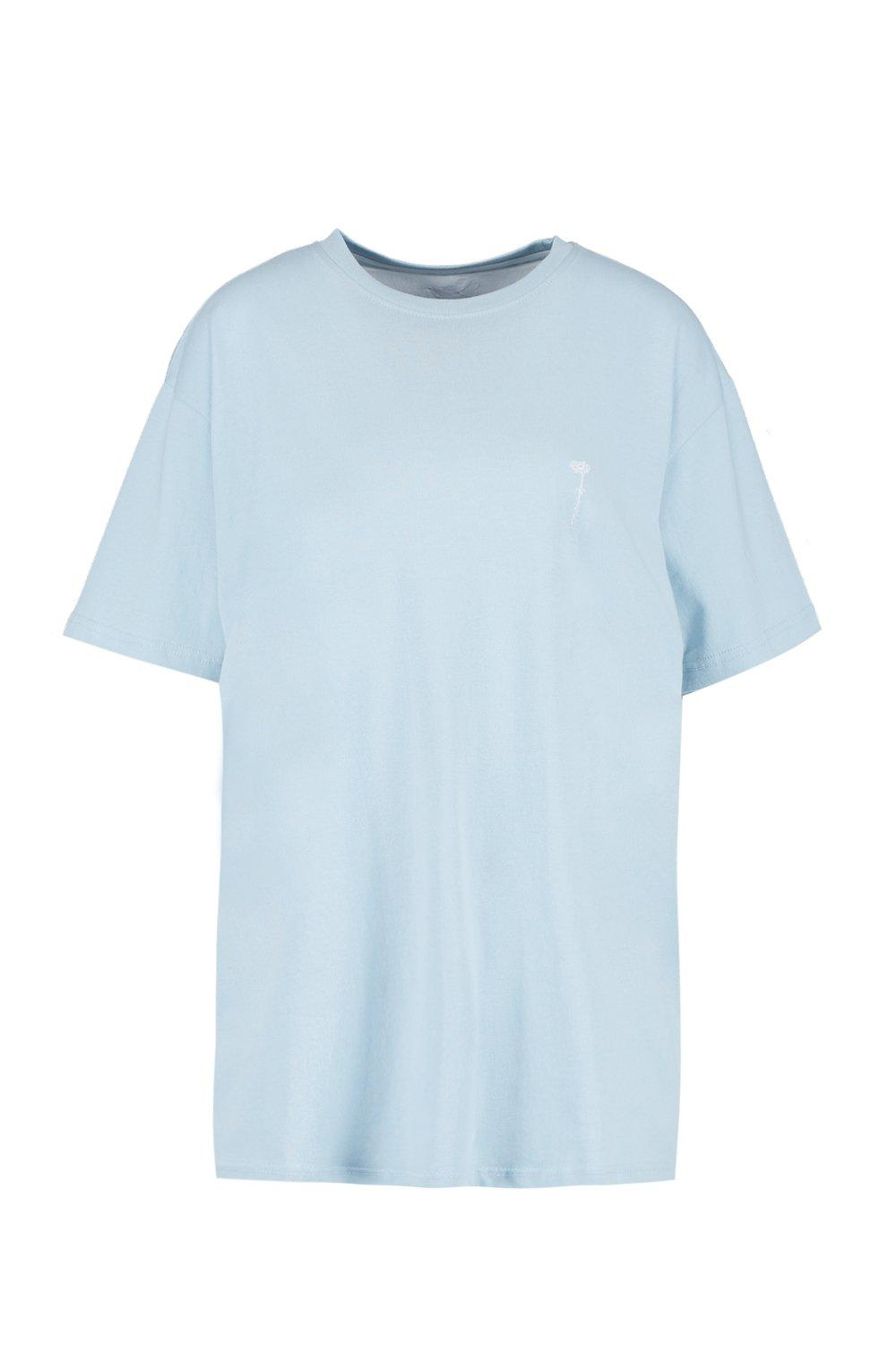 "boohooMAN pale blue Pride """"Love is"""" Back Print Loose Fit T Shirt"