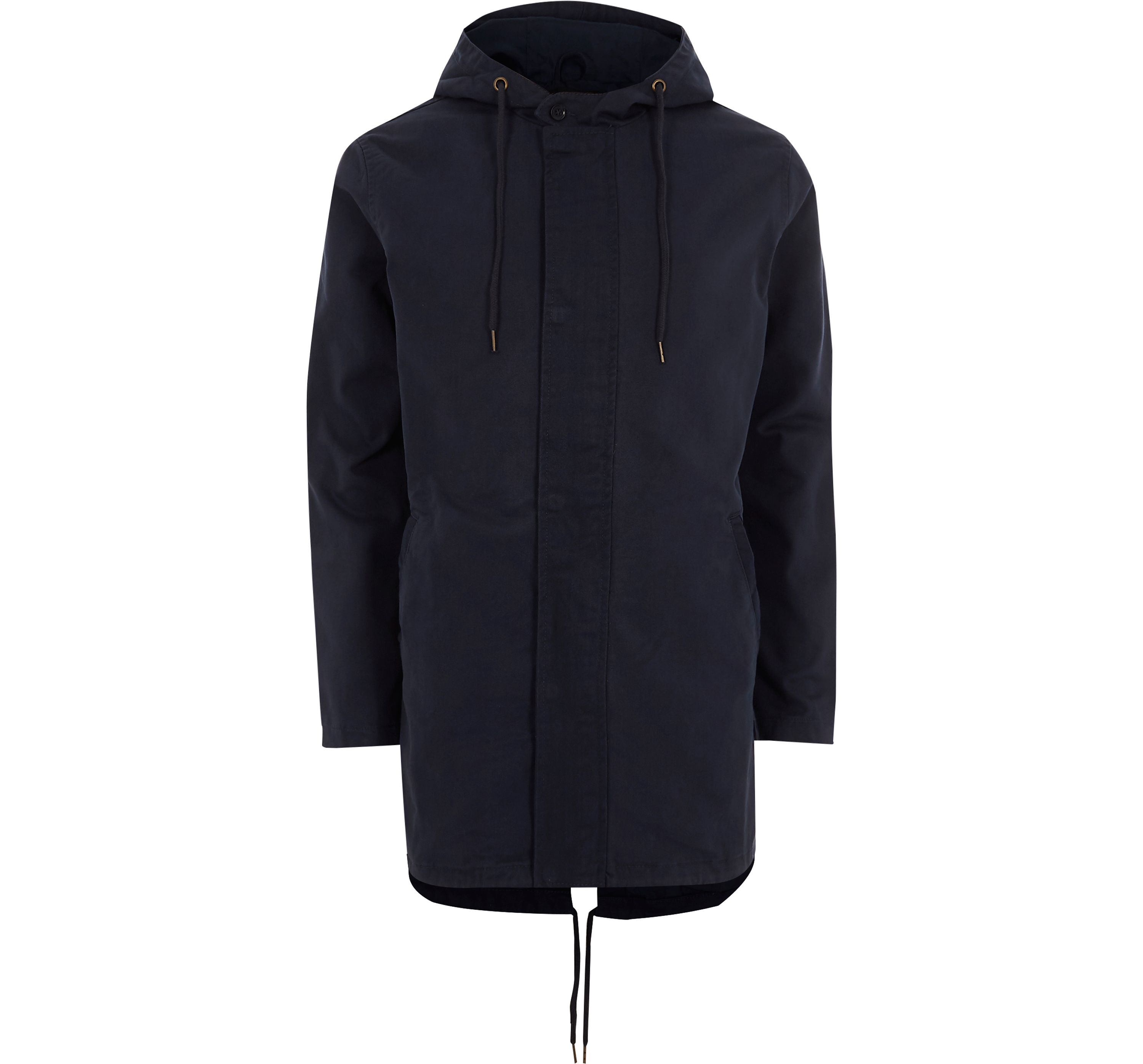 River Island Mens Only and Sons Navy hooded parka jacket