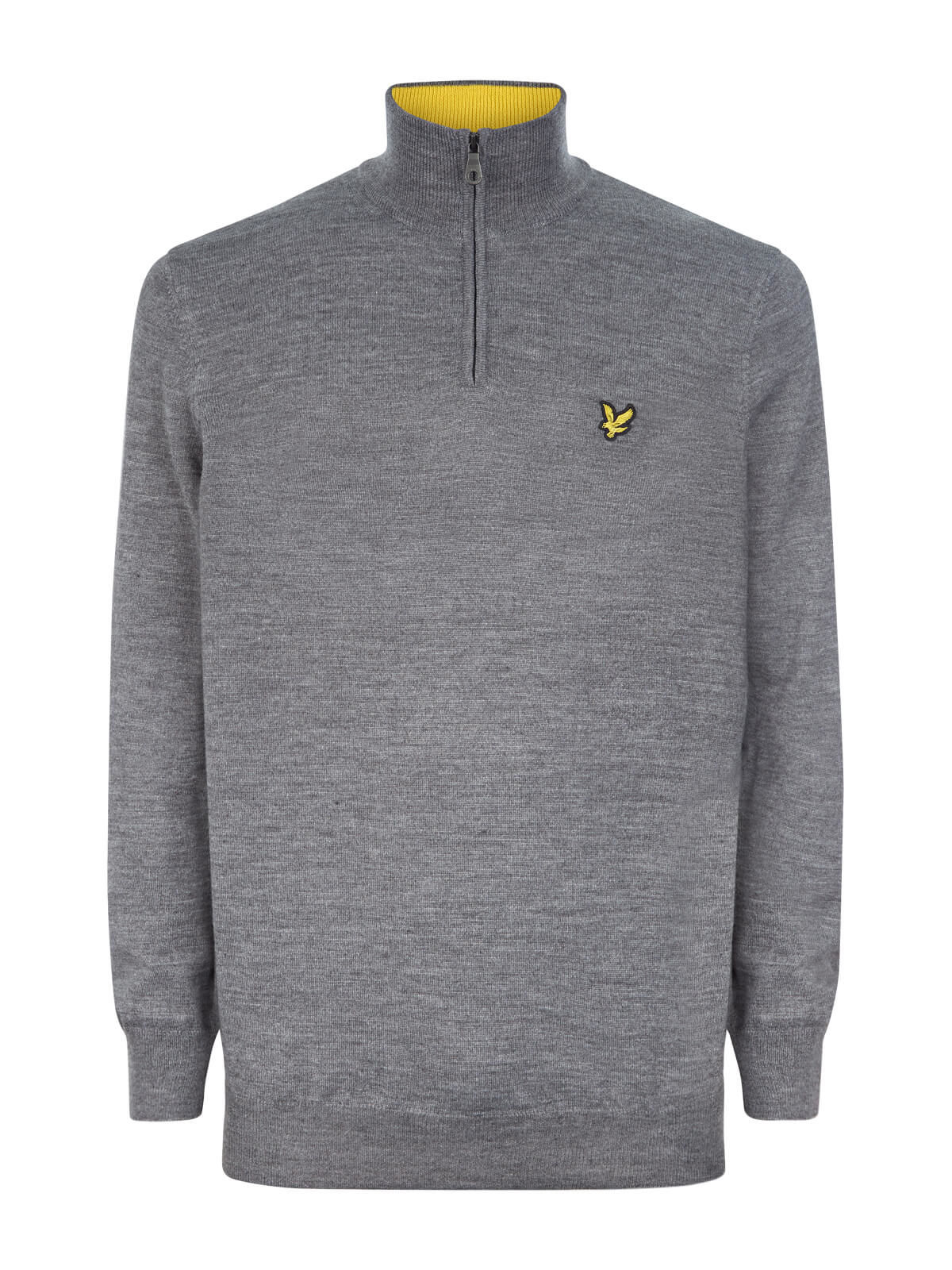 Lyle and Scott Mid Grey Marl Sands 1/4 Zip Pullover