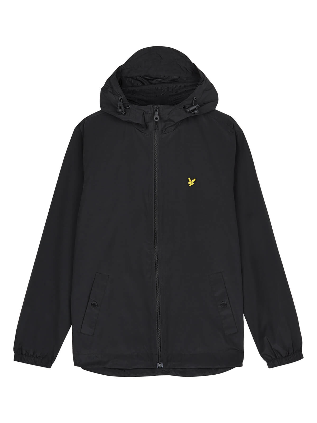 Lyle and Scott True Black Zip Through Hooded Jacket