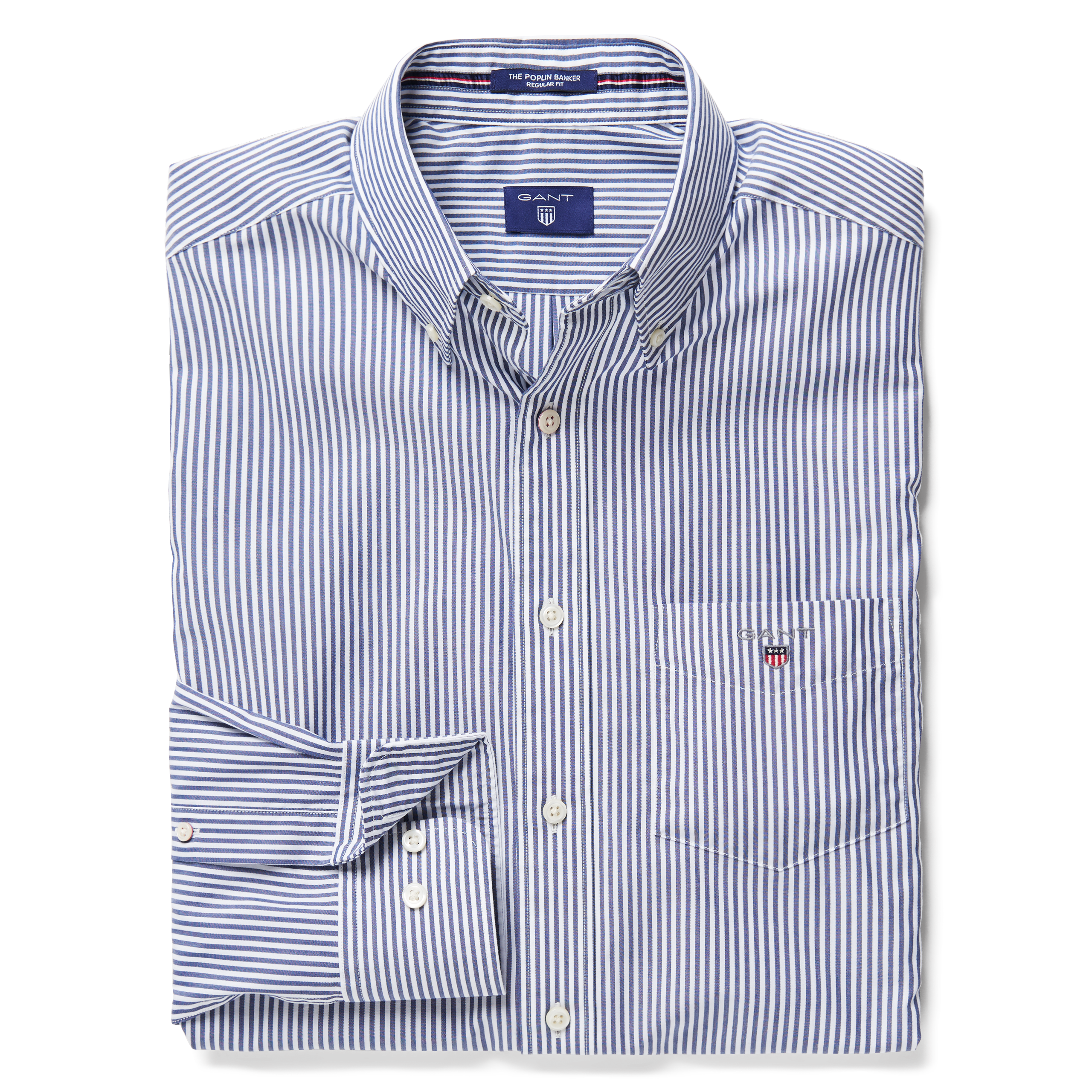 GANT Persian Blue Regular Fit Stripe Shirt