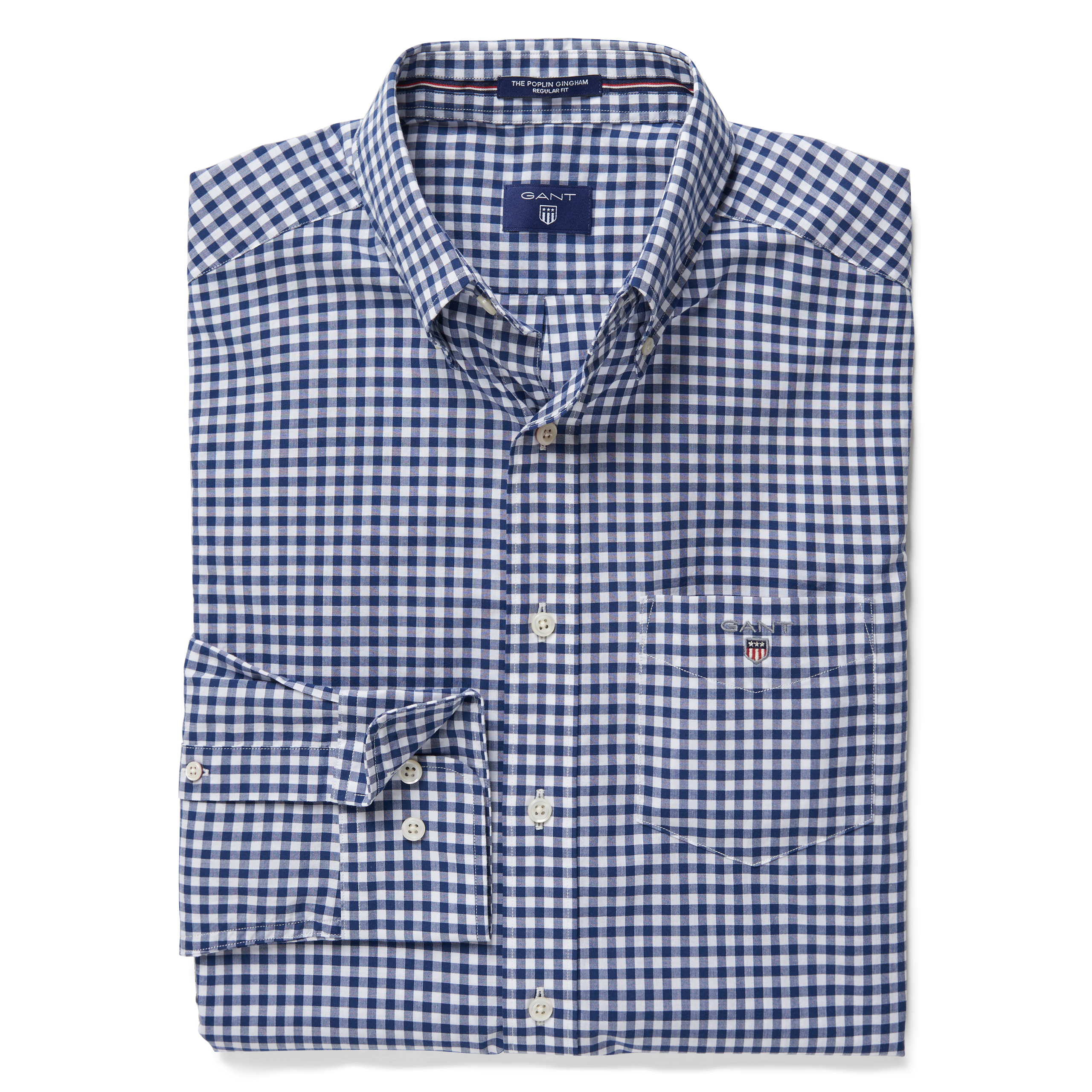 GANT Persian Blue The Broadcloth Gingham Reg Bd