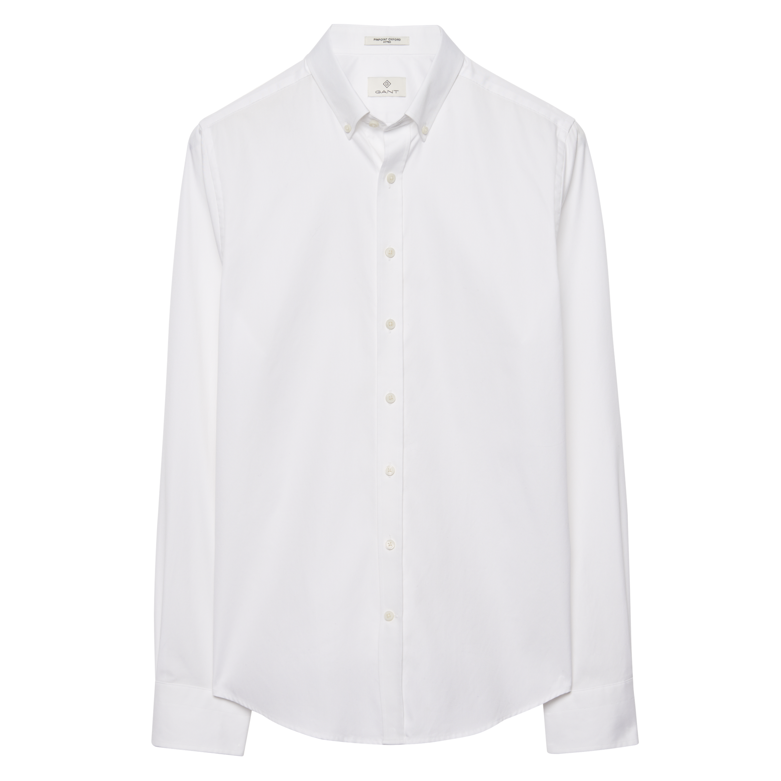 Gant White G. Pinpoint Oxford Slim Bd