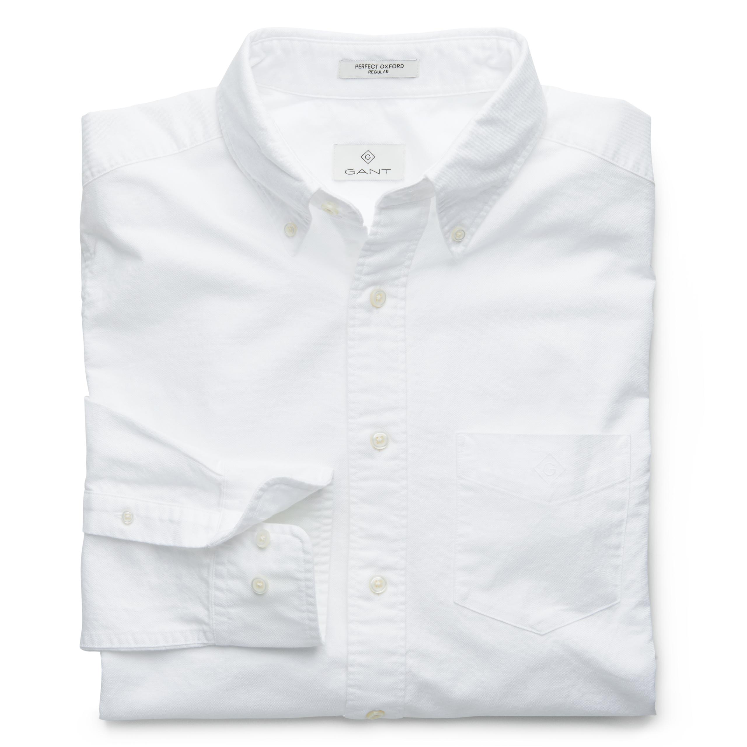 GANT White Slim Fit Oxford Shirt