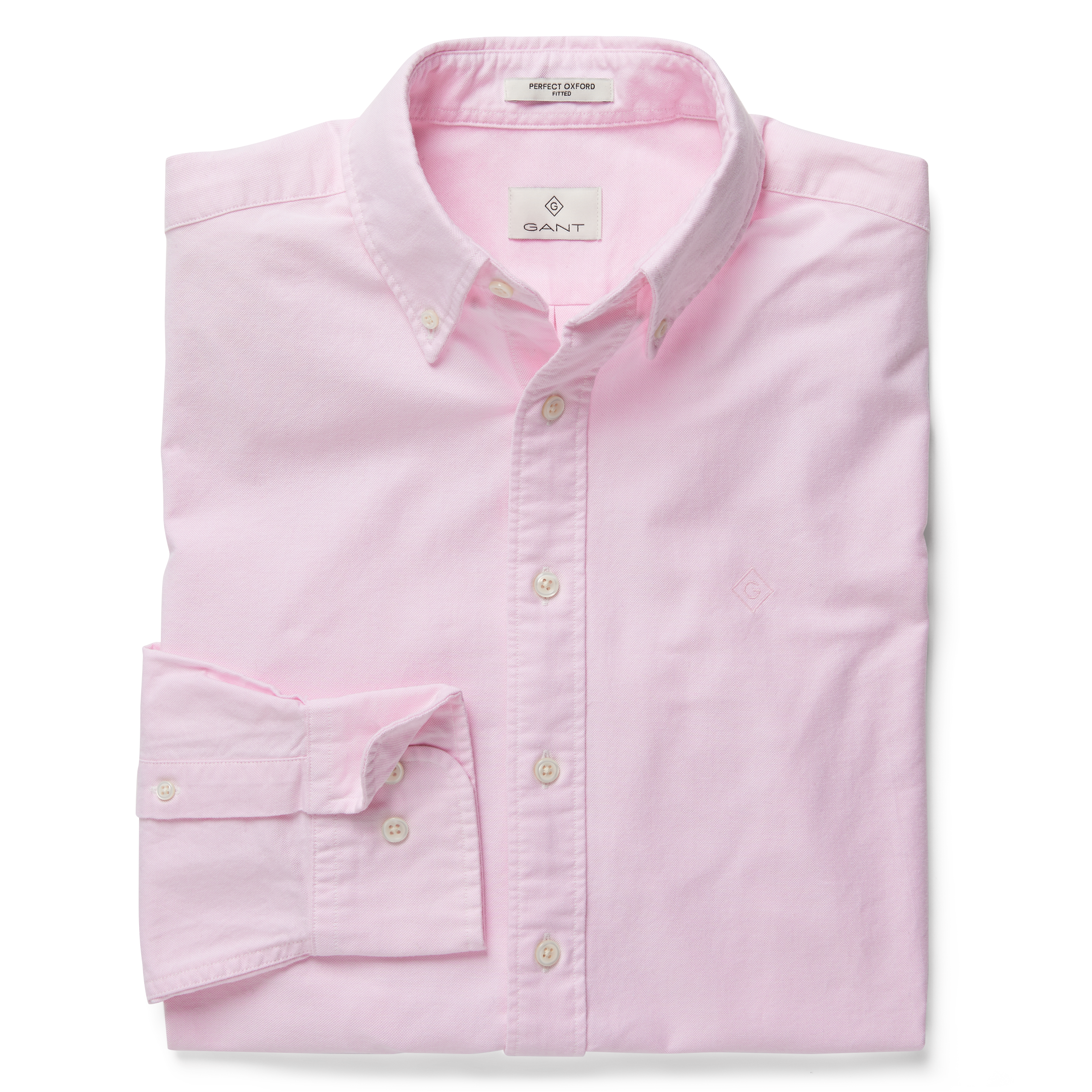 GANT Pastel Pink Regular Fit Oxford Shirt